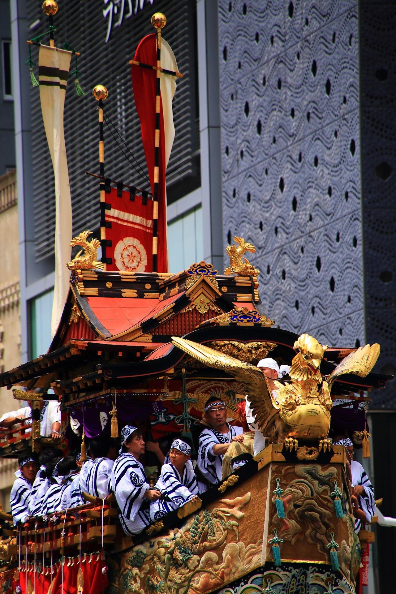 Fune-Hoko of Yamahoko-Junko Cruise of Gion-Matsuri Festival in Kyoto