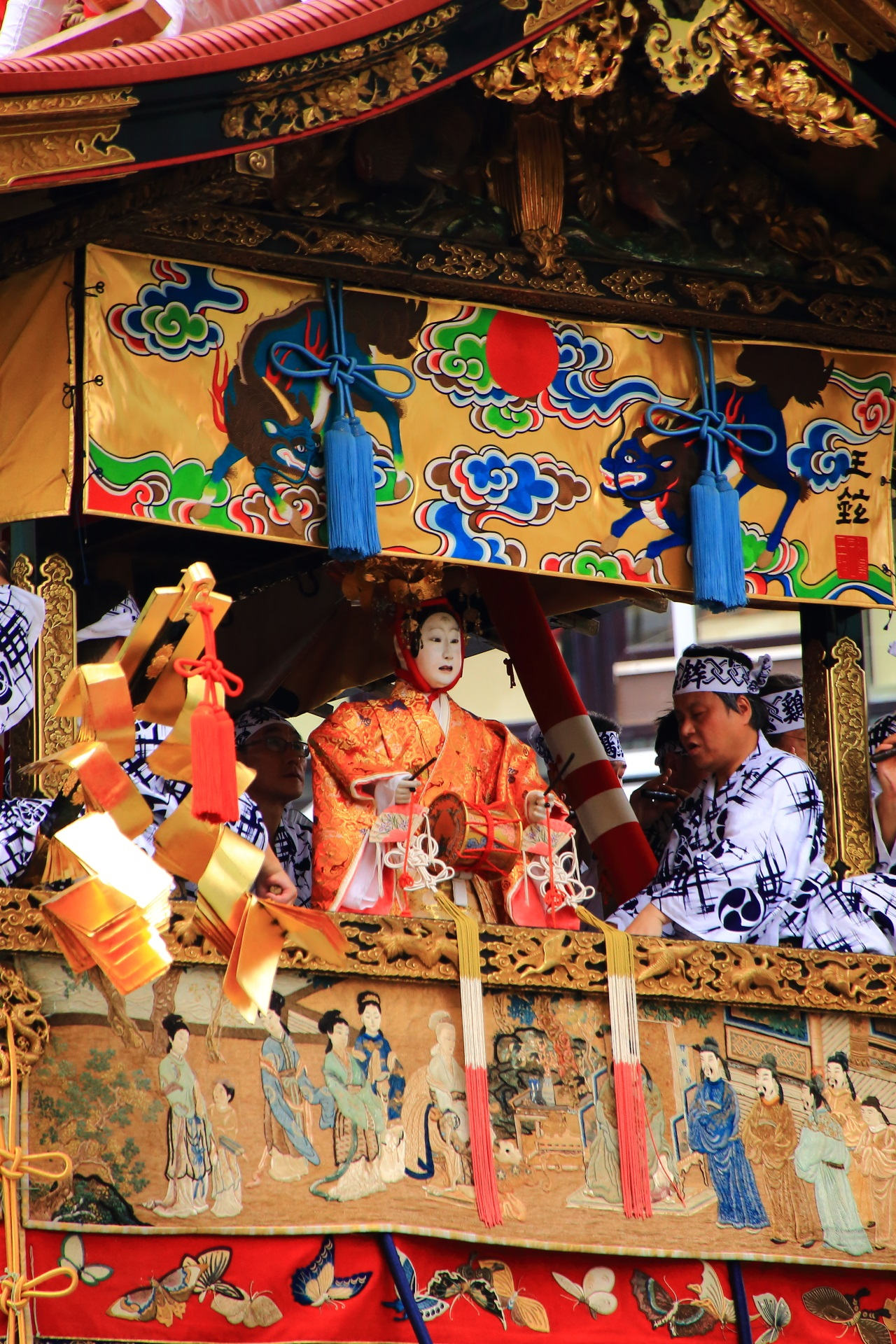 Tori-Hpoko appeared in Kyoto Gion-Matsuri Festival