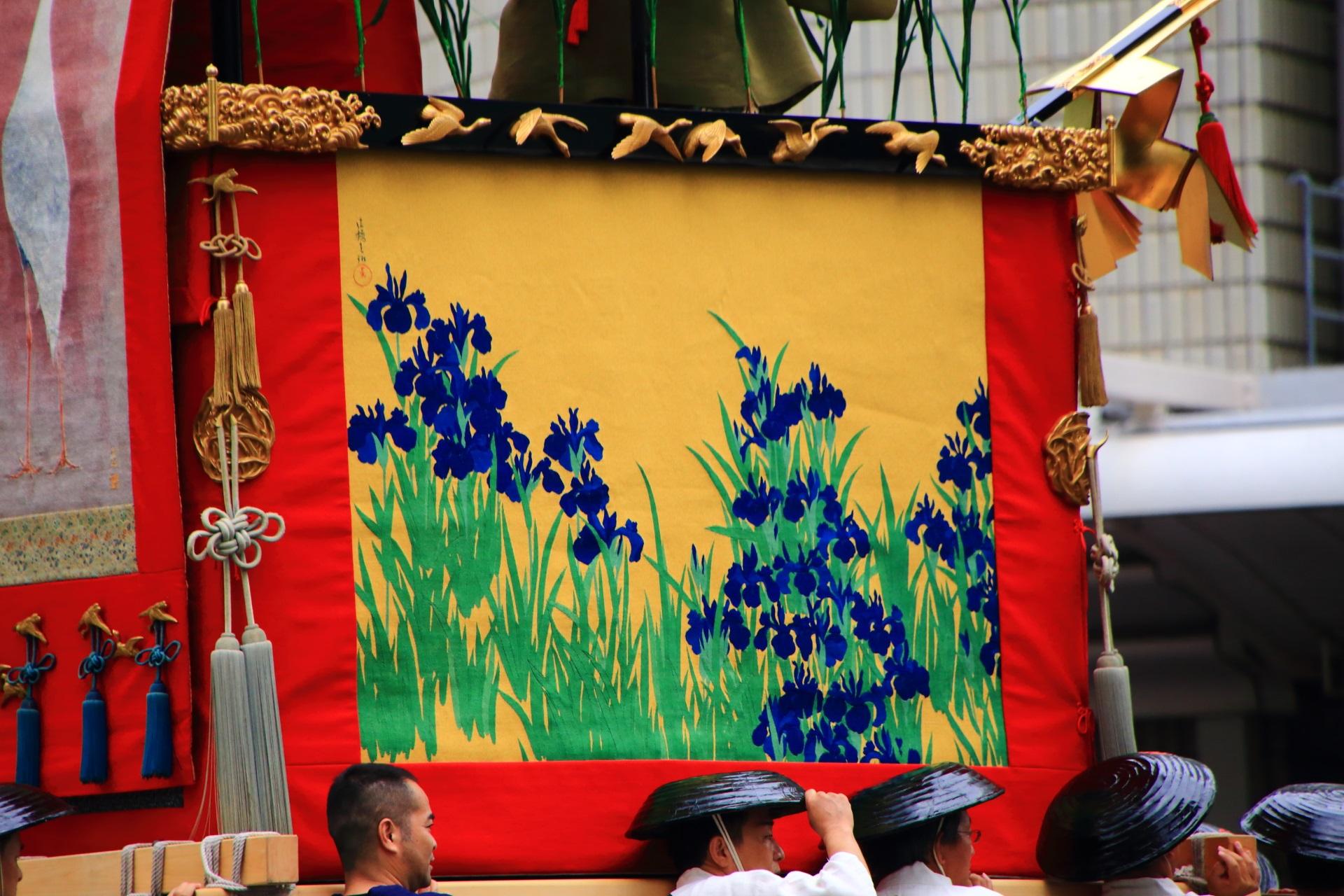 胴懸は菖蒲の芦刈山
