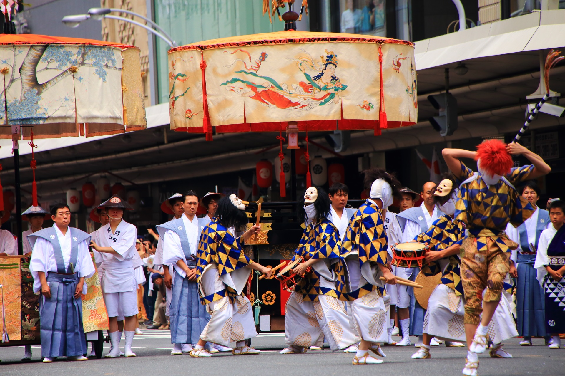 綾傘鉾の棒振り囃子の踊り