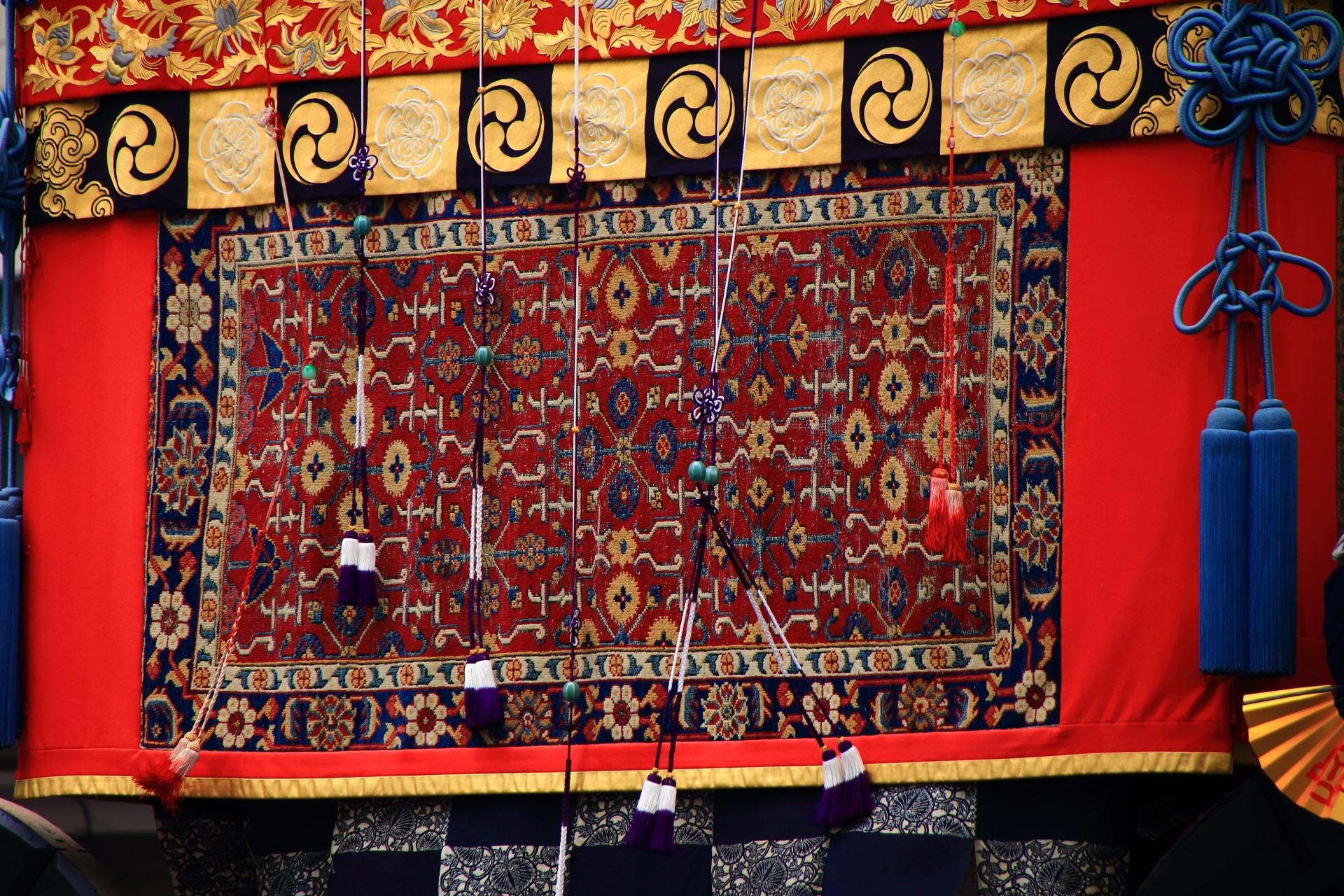 岩戸山の胴懸の上で揺れる飾り紐