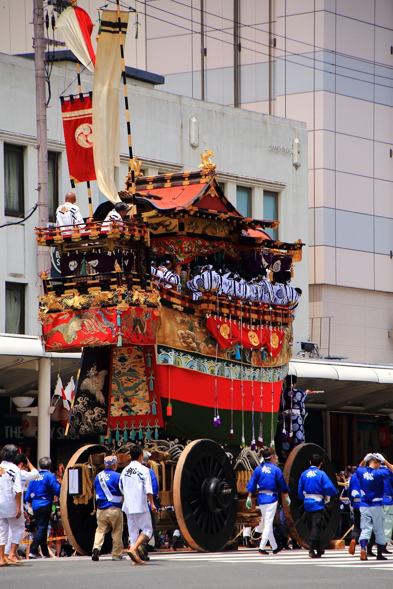 素晴らしい祇園祭の山鉾巡行