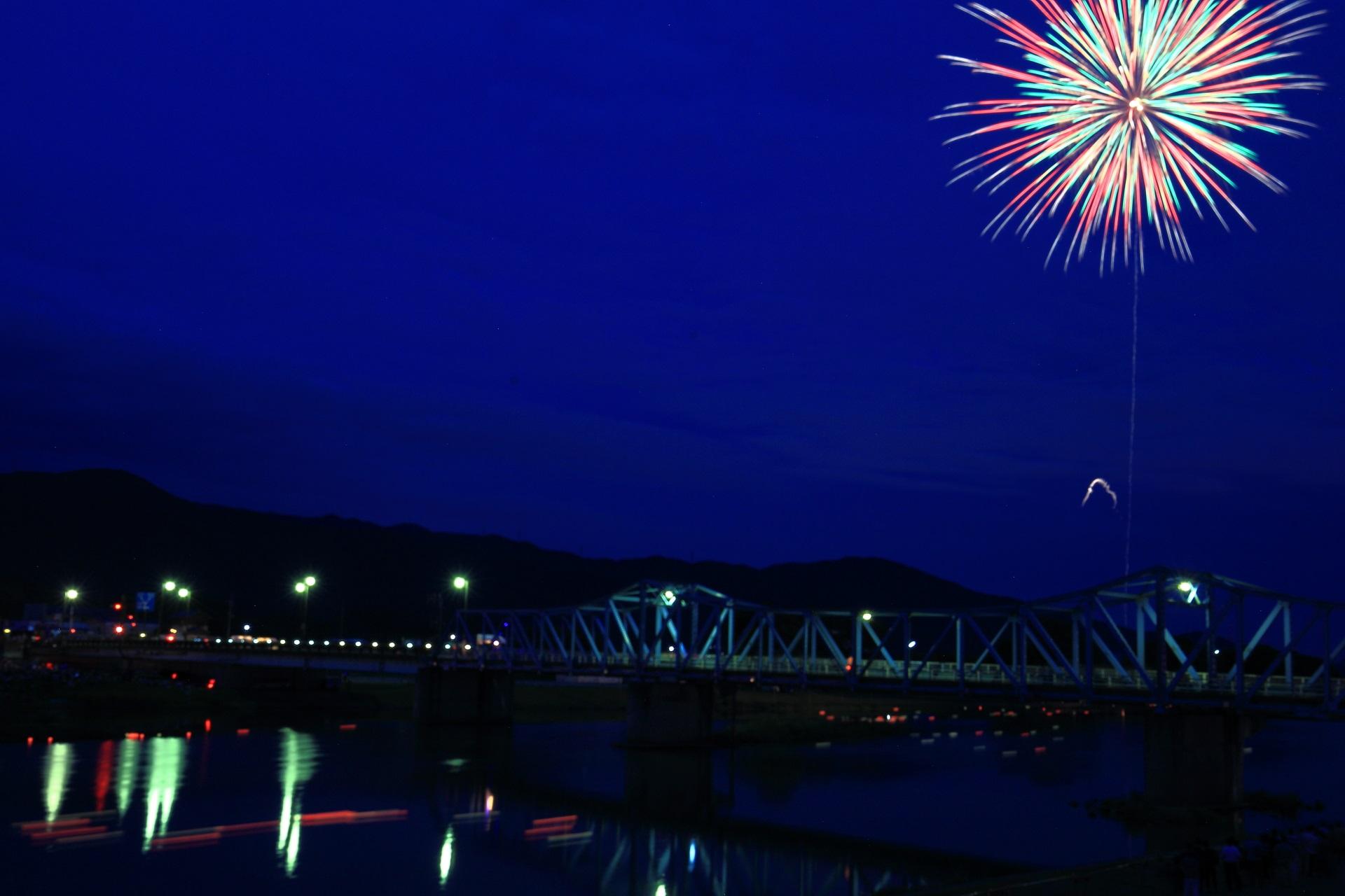 南丹市の打ち上げ花火