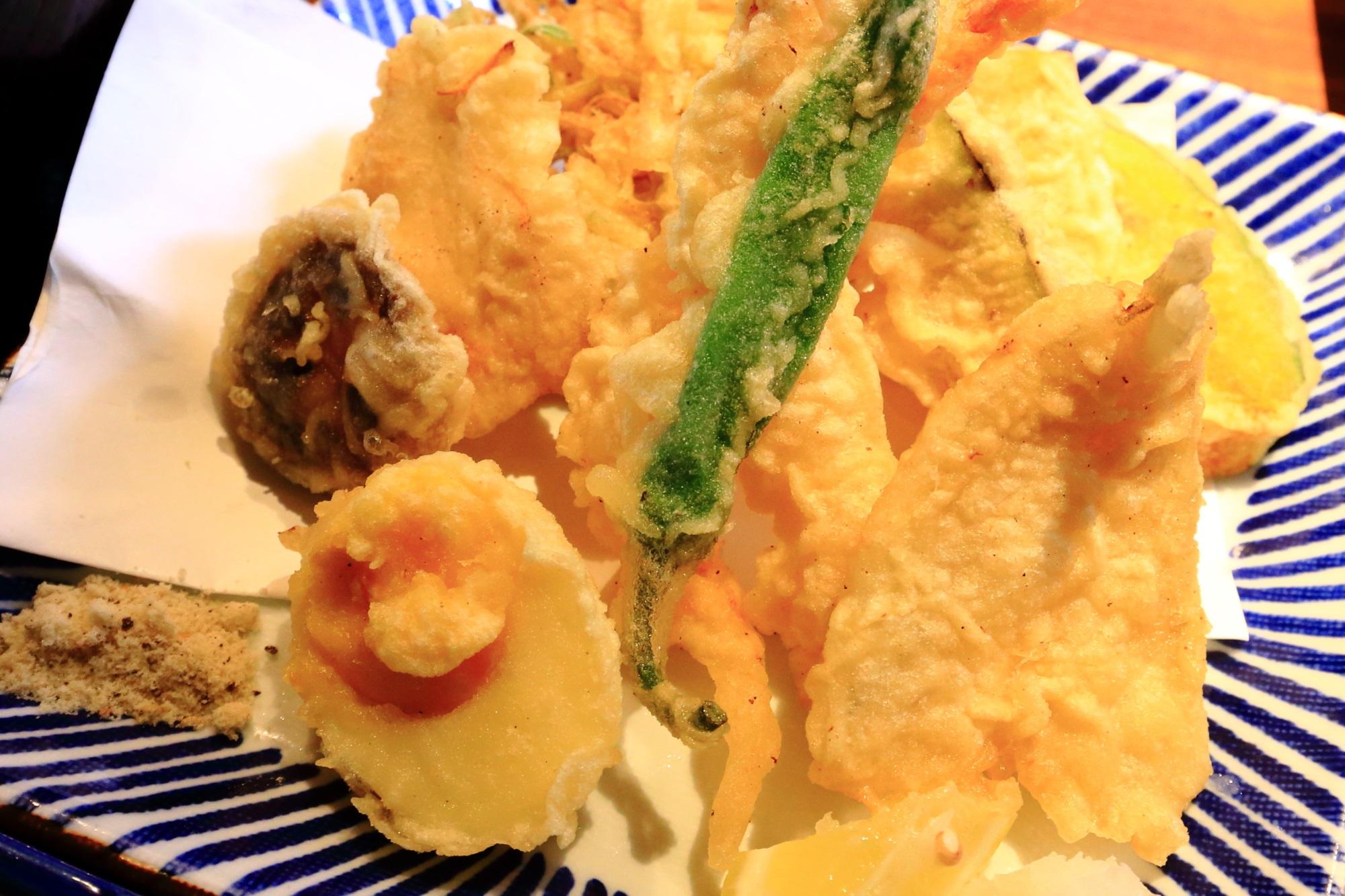 京都の人気の和食の葱や平吉の美味しい天ぷら