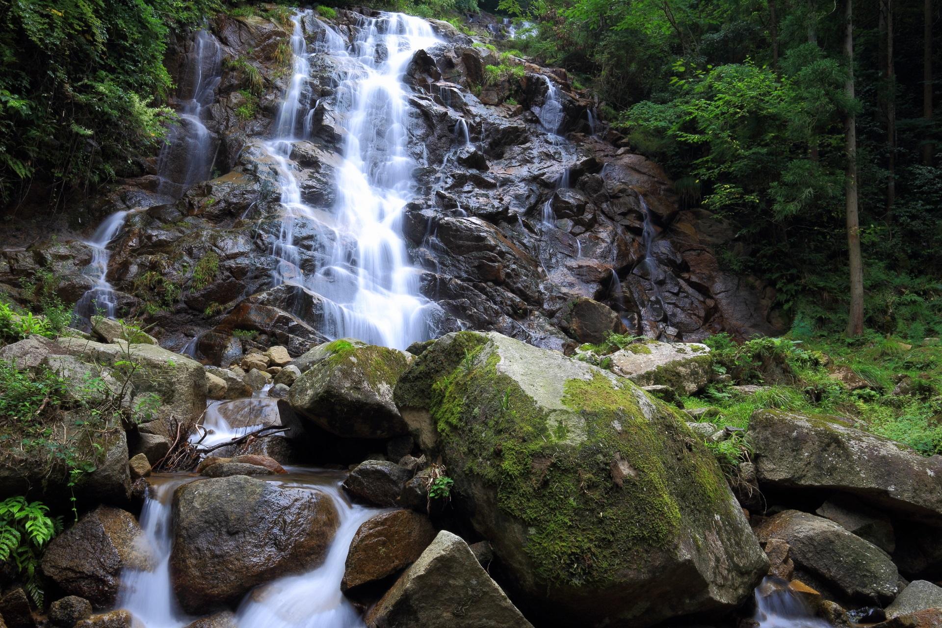 マイナスイオンたっぷりの今福の滝