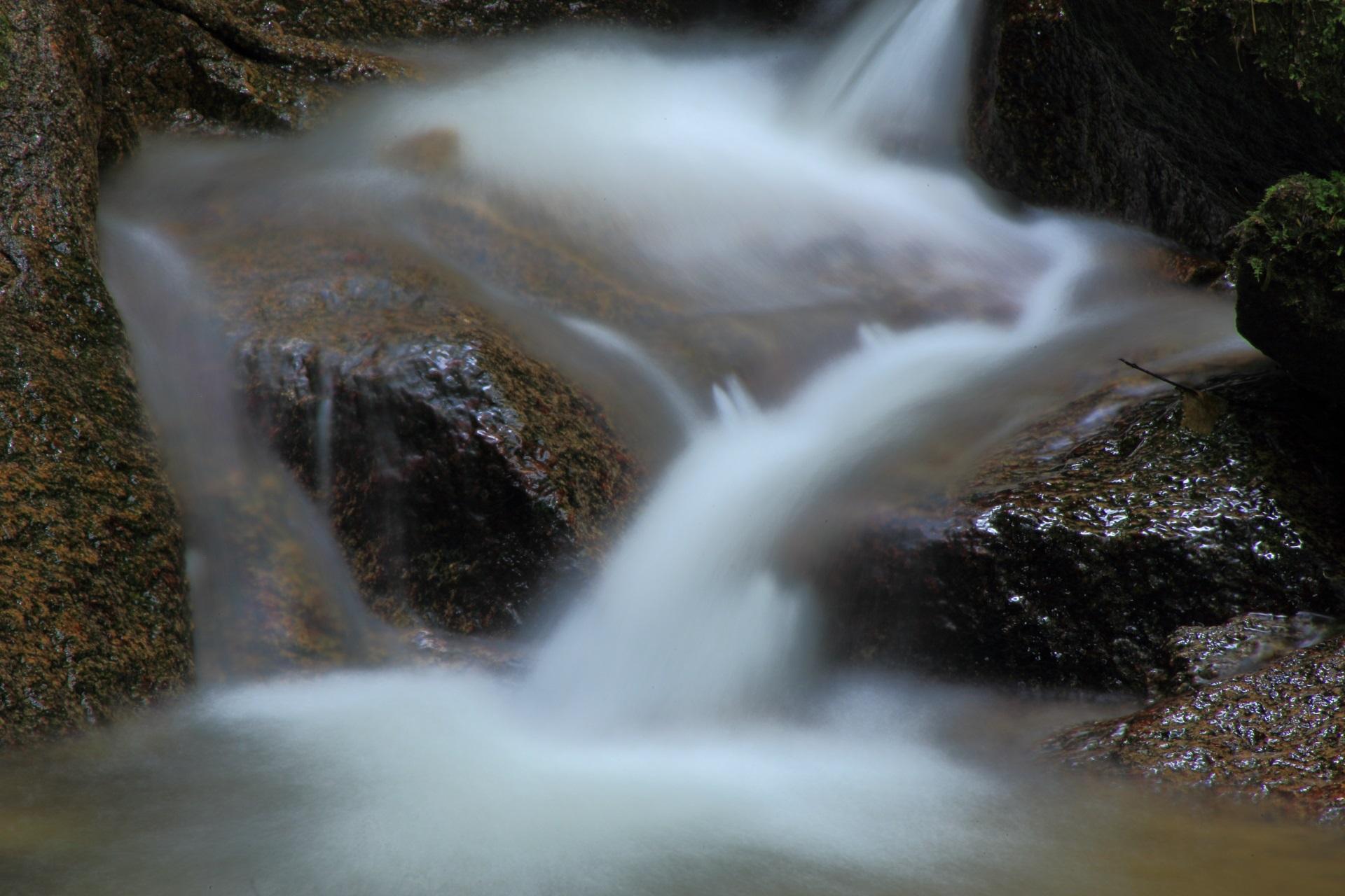 三脚を使って撮った今福の滝