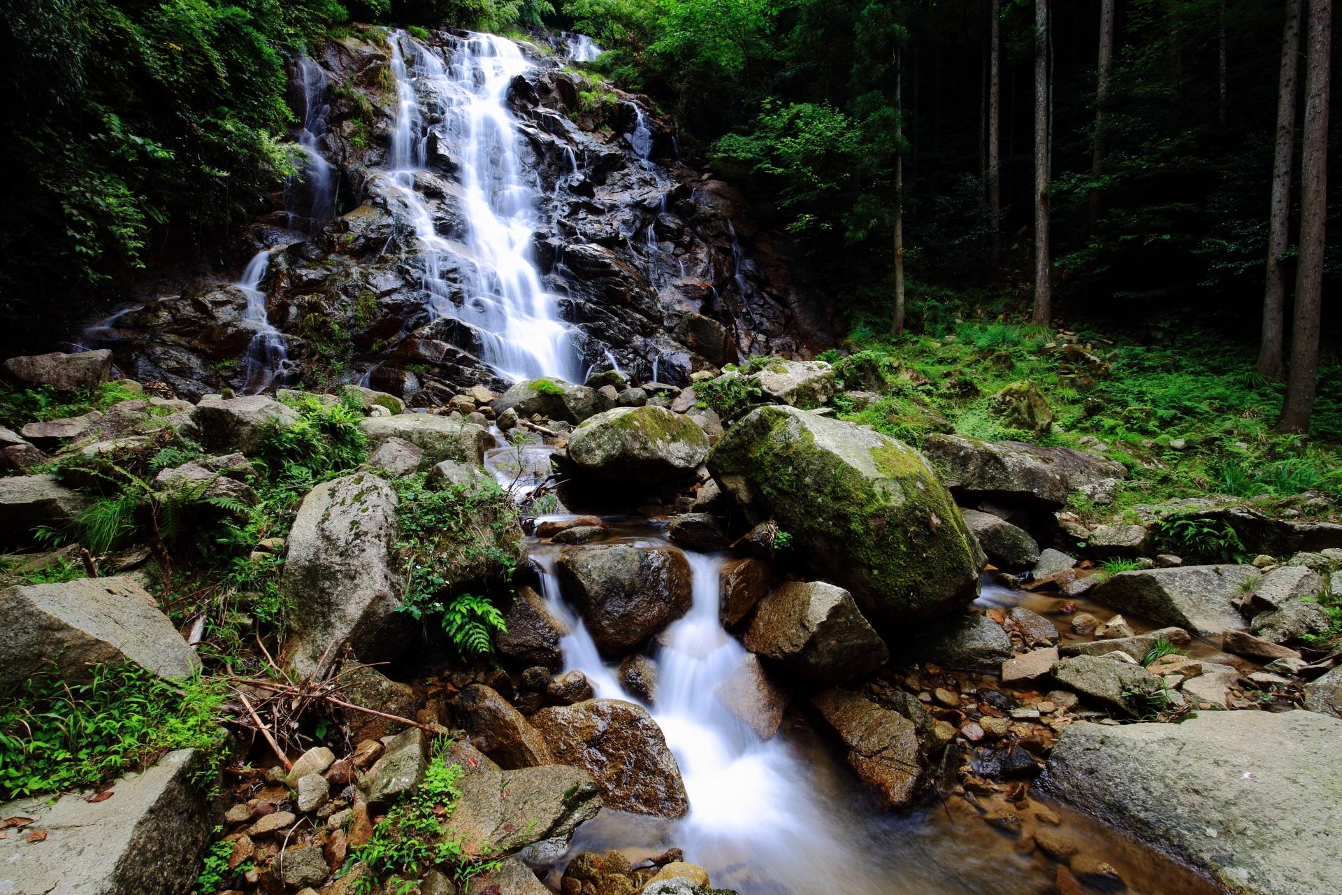 今福の滝の二ノ滝と三ノ滝