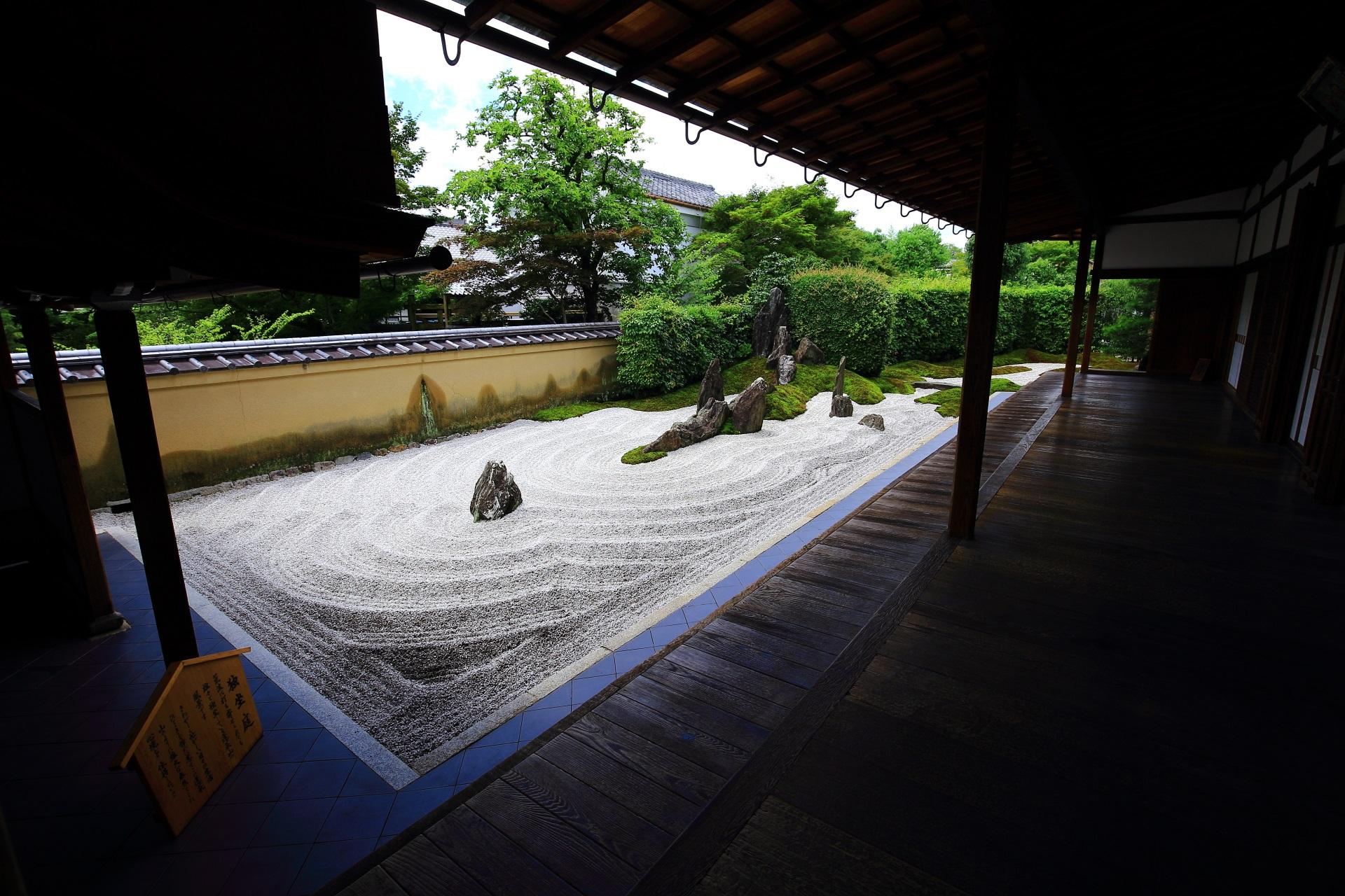 瑞峯院 極上の庭園 荒波の独坐庭と静寂の閑眠庭