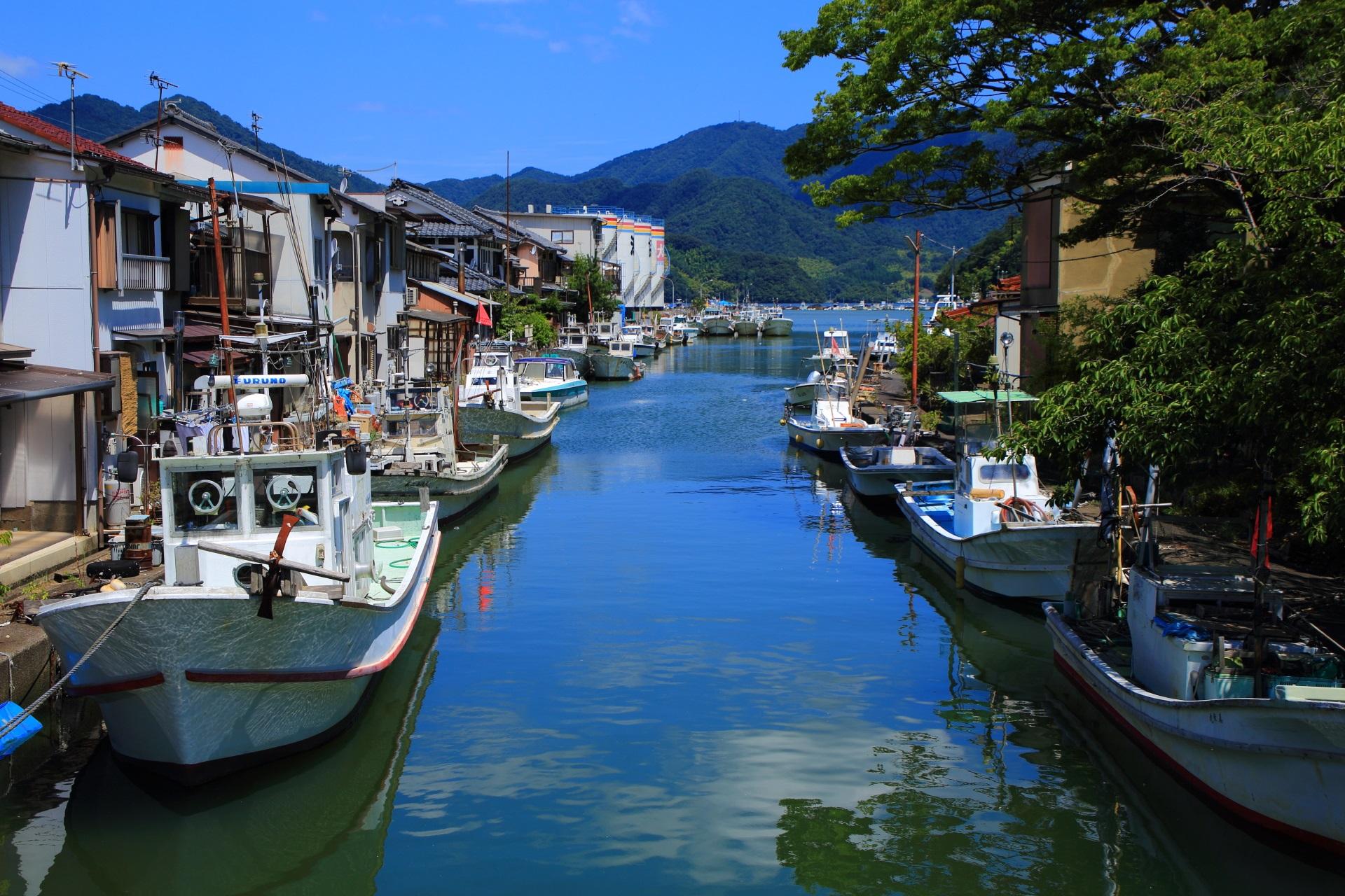 舞鶴吉原地区を流れる吉原入江