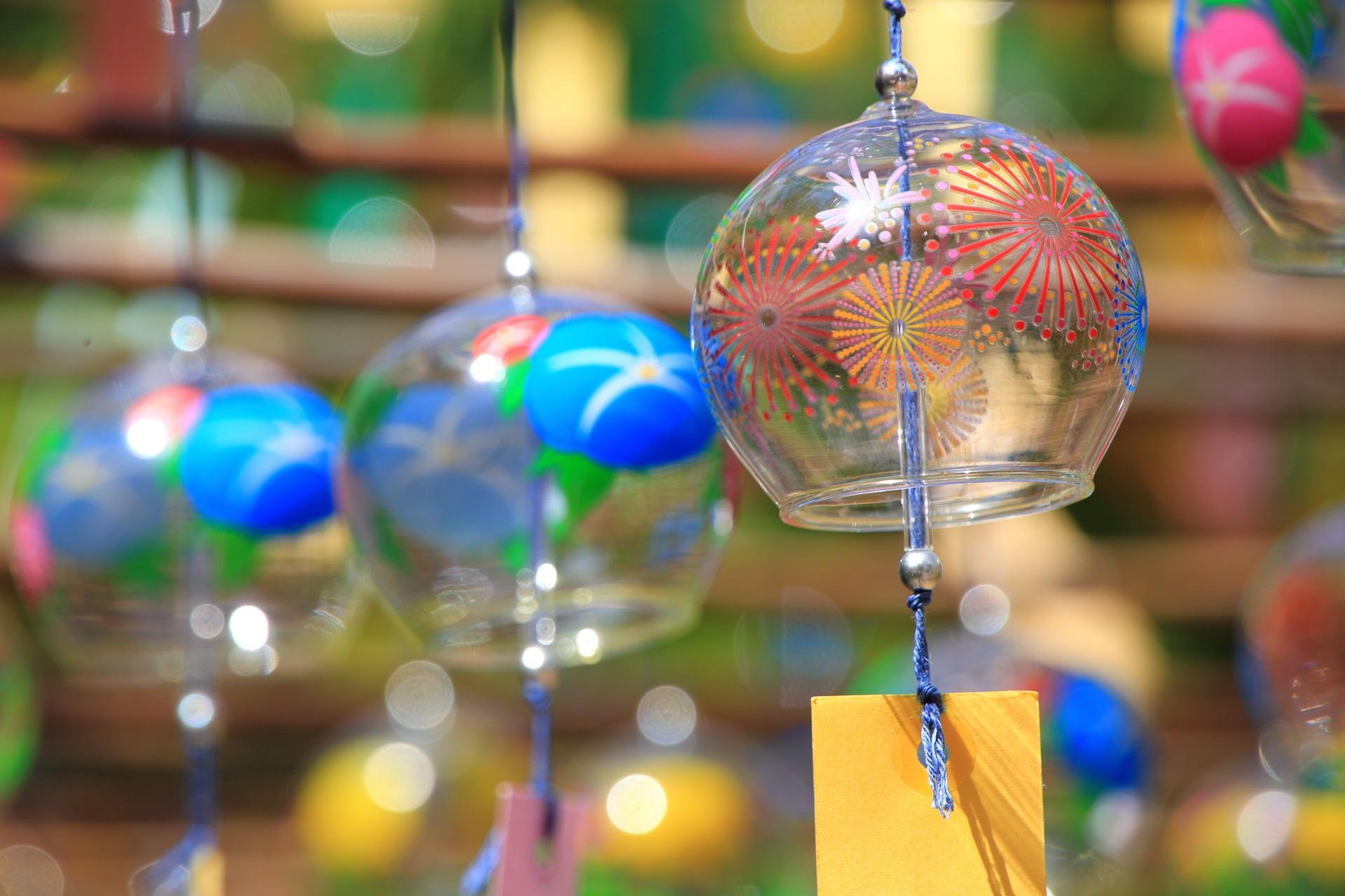 正寿院の夏っぽい花火の風鈴