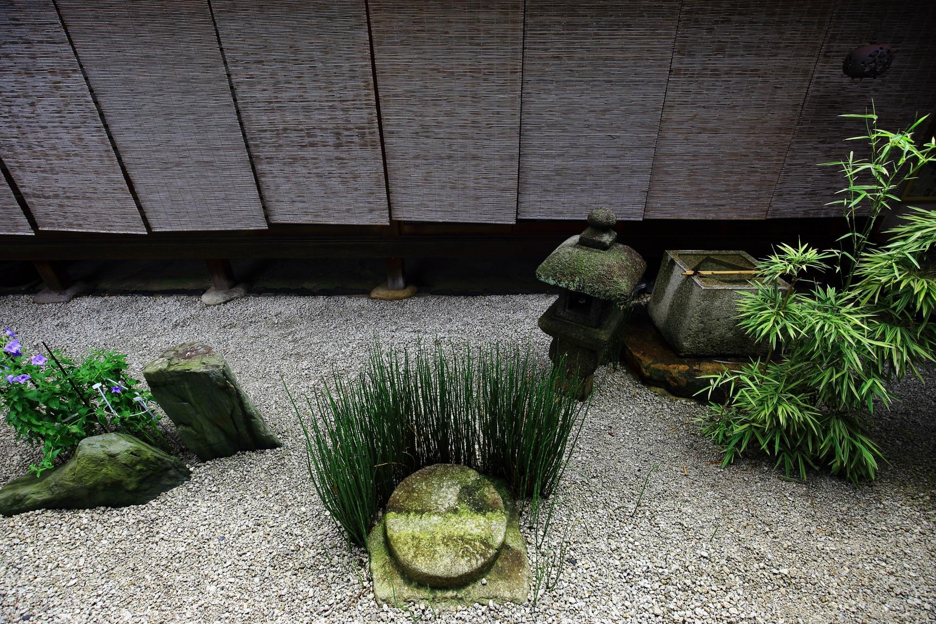 風情と彩りの感じられる瑞峯院の東の坪庭(中庭)