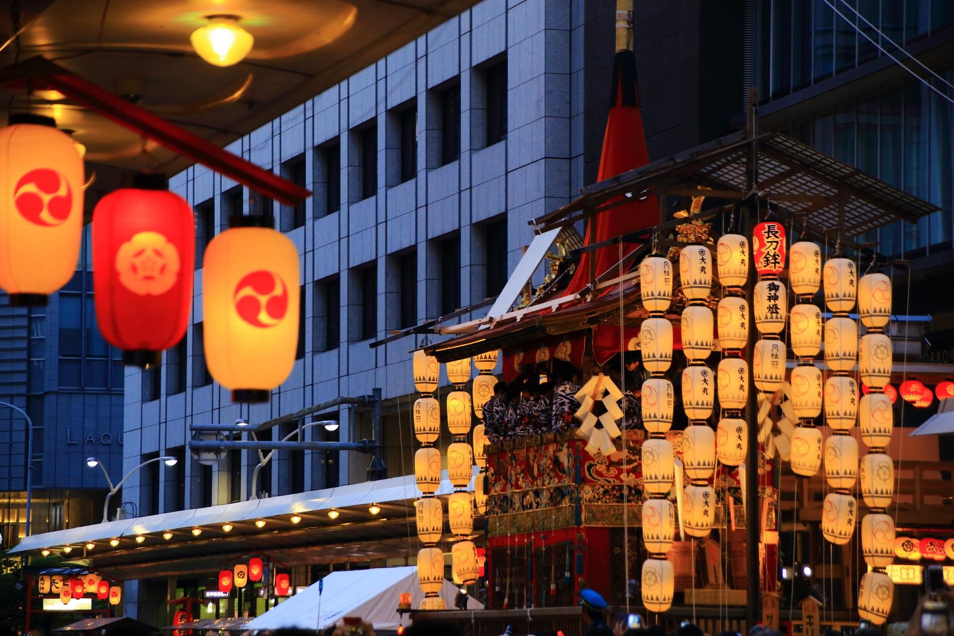 今年も大盛況な毎年一番人気の宵山の長刀鉾