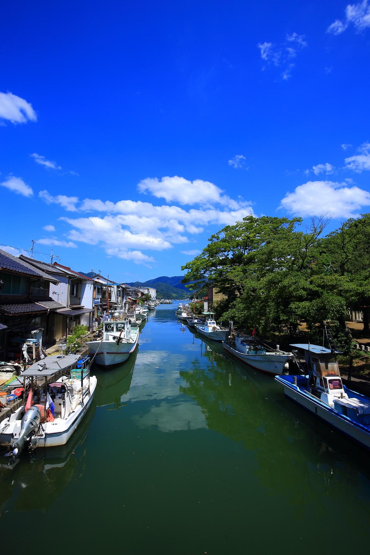 舞鶴吉原地区の素晴らしい漁港の街並みや情景