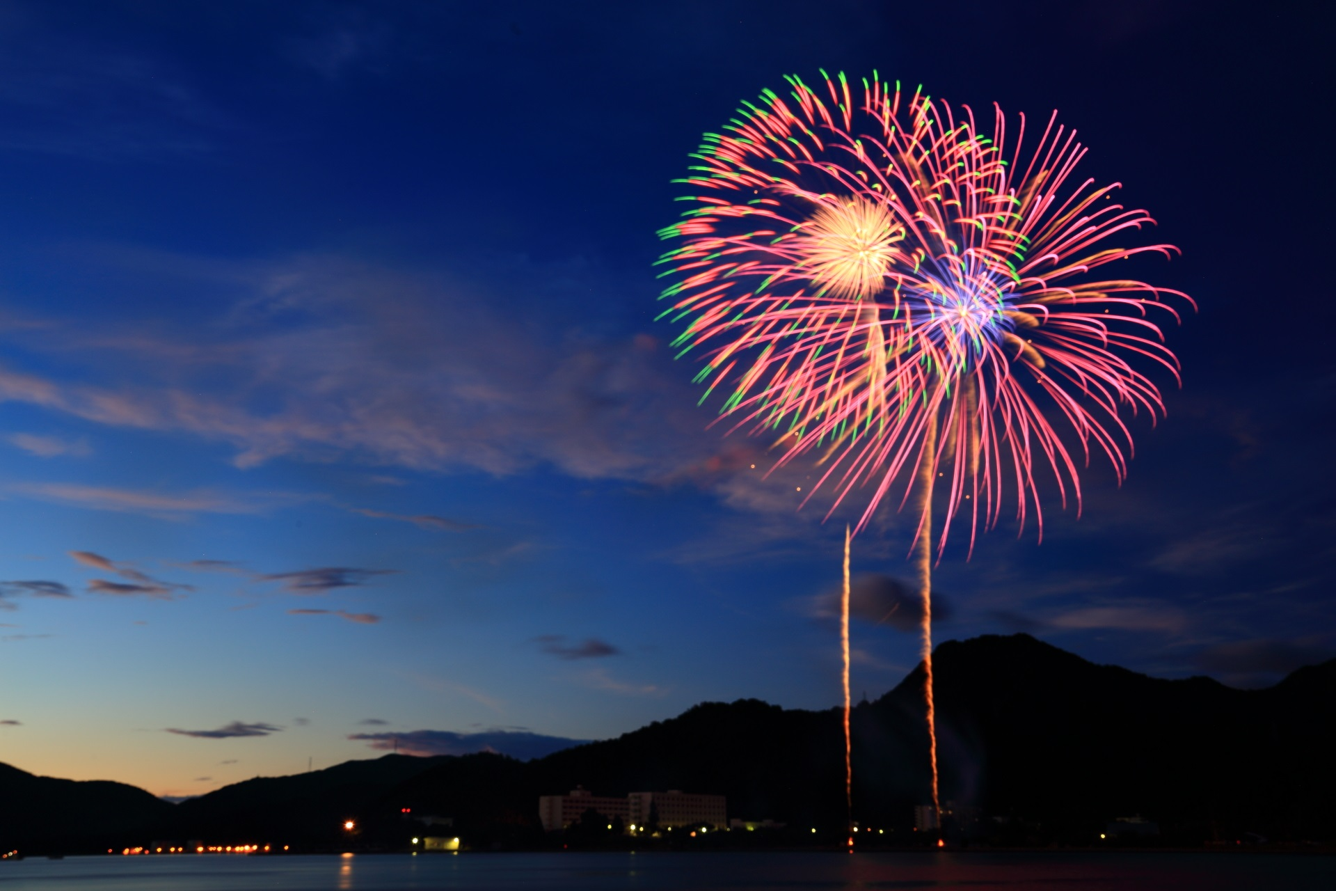 打ち上げ数は約5,000発の舞鶴ちゃったまつり花火大会