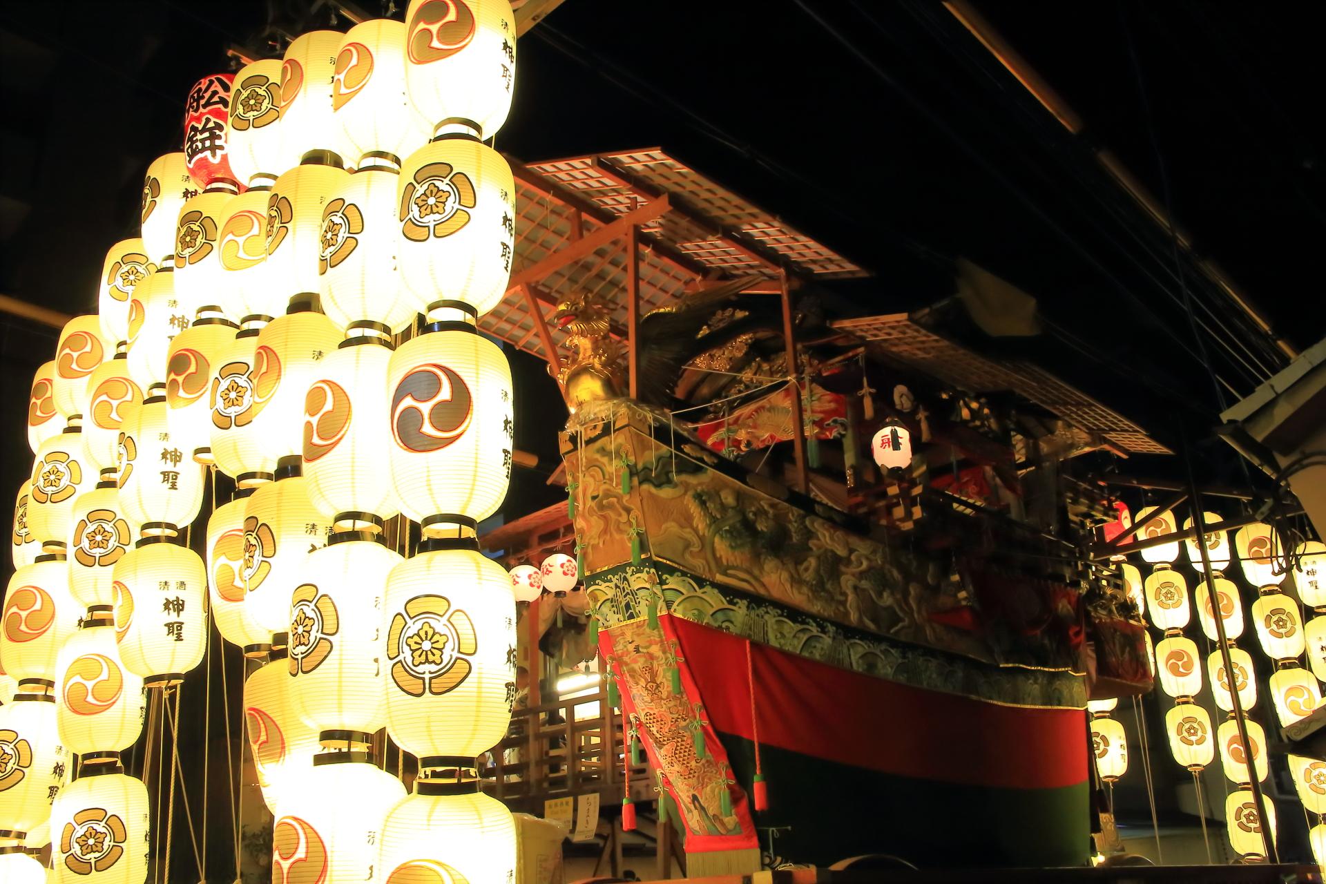 宵山 祇園祭 夏の夜を彩る山鉾と駒方提灯
