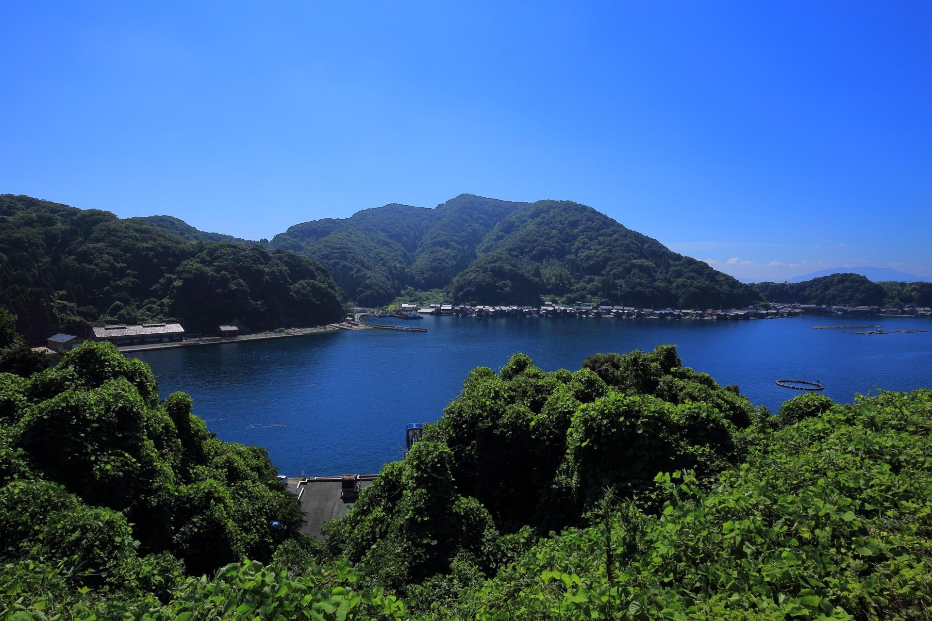 山や緑に囲まれた自然も豊富な伊根湾