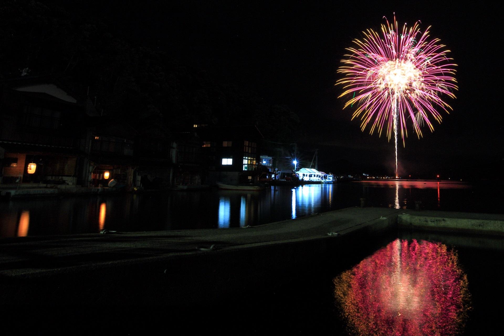 Ine Fireworks Festival in Kyoto