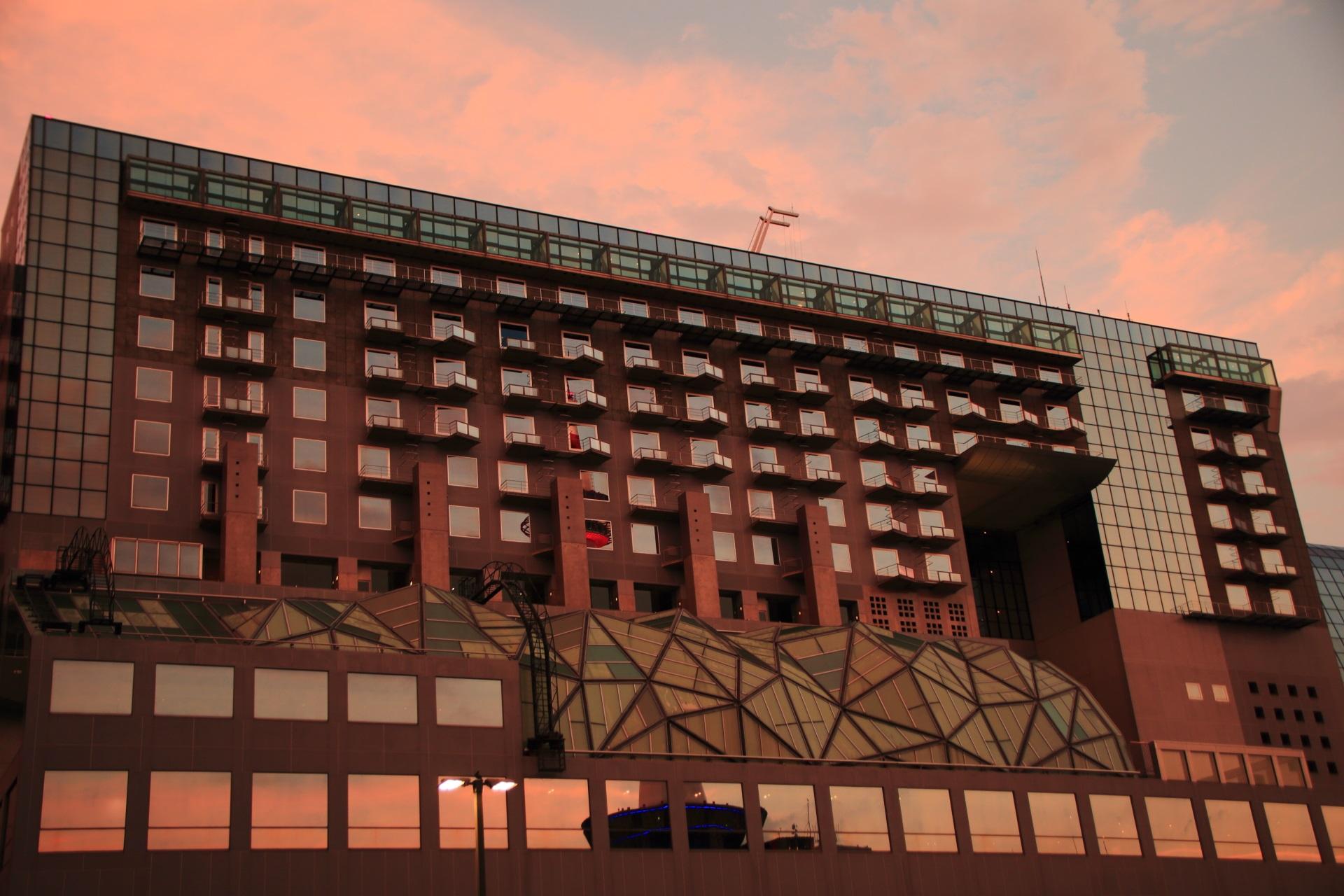 ホテルグランヴィア京都の夕焼け