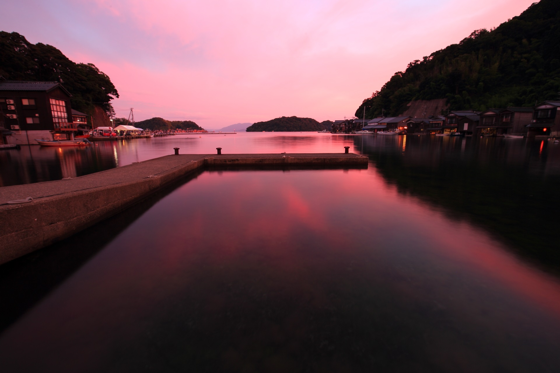 Fantastic sunset of Ine-Wan Bay, Kyoto