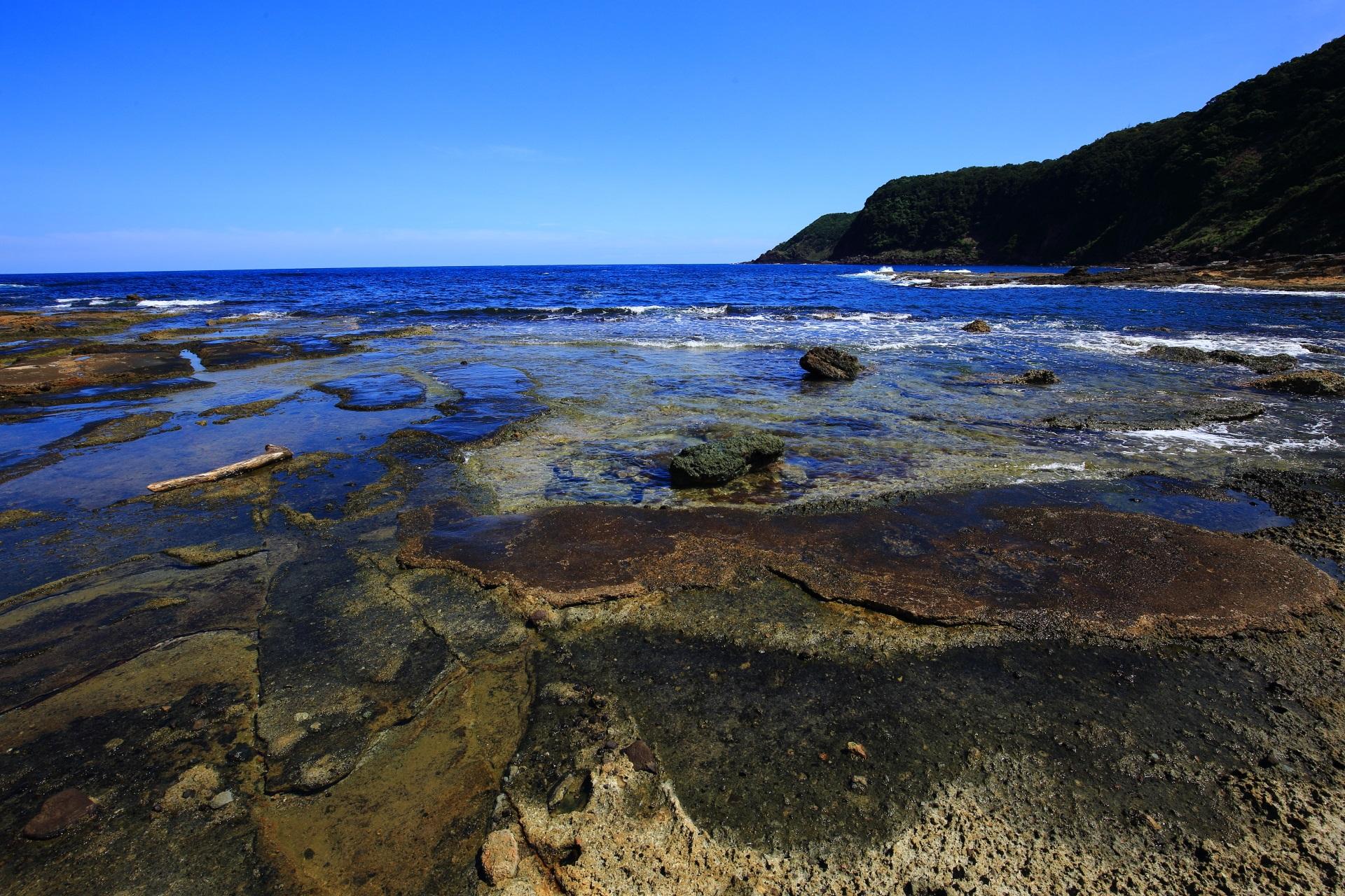 素晴らしい五色浜と京丹後の海の情景