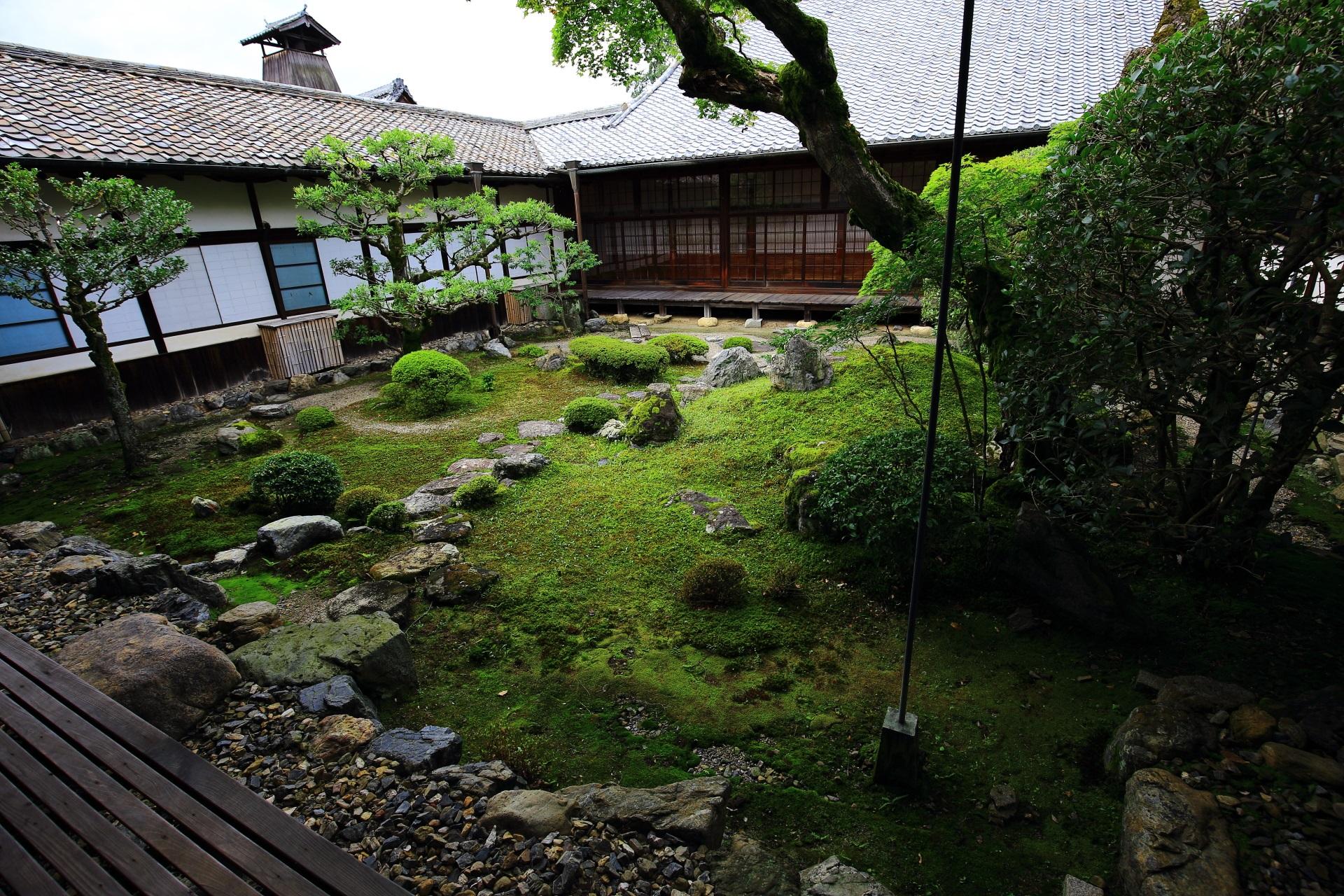 三宝院の苔や飛び石の綺麗な書院中庭