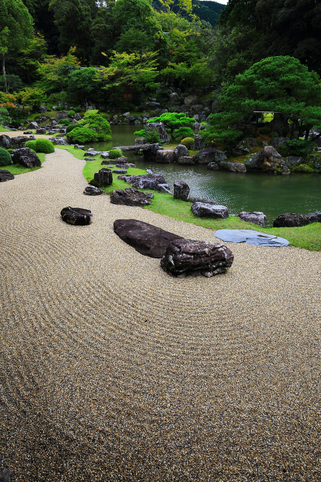 A wonderful garden at Sanbo-in in Daigo-ji Temple in Kyoto,Japan