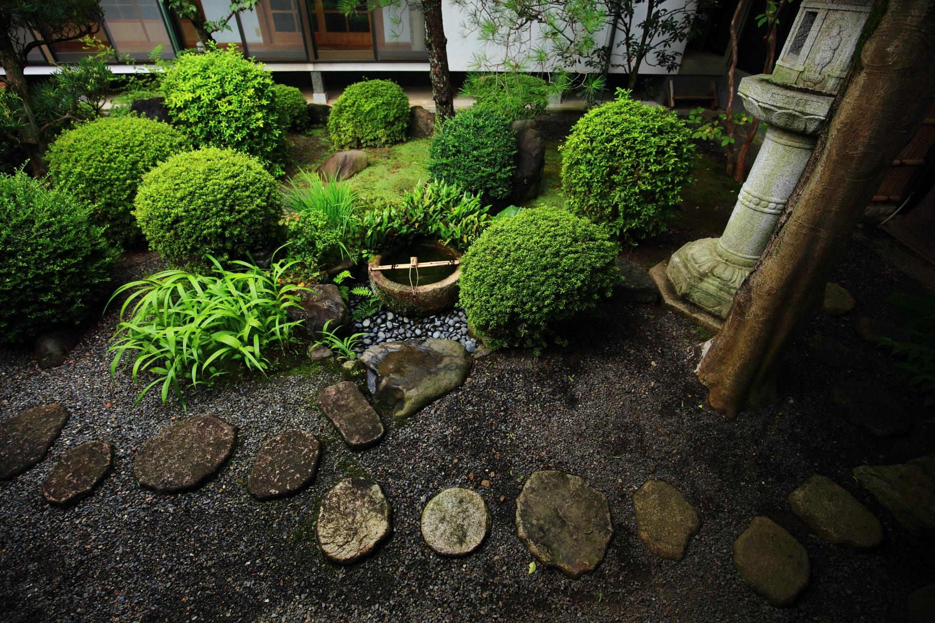 風情たっぷりの妙蓮寺の中庭