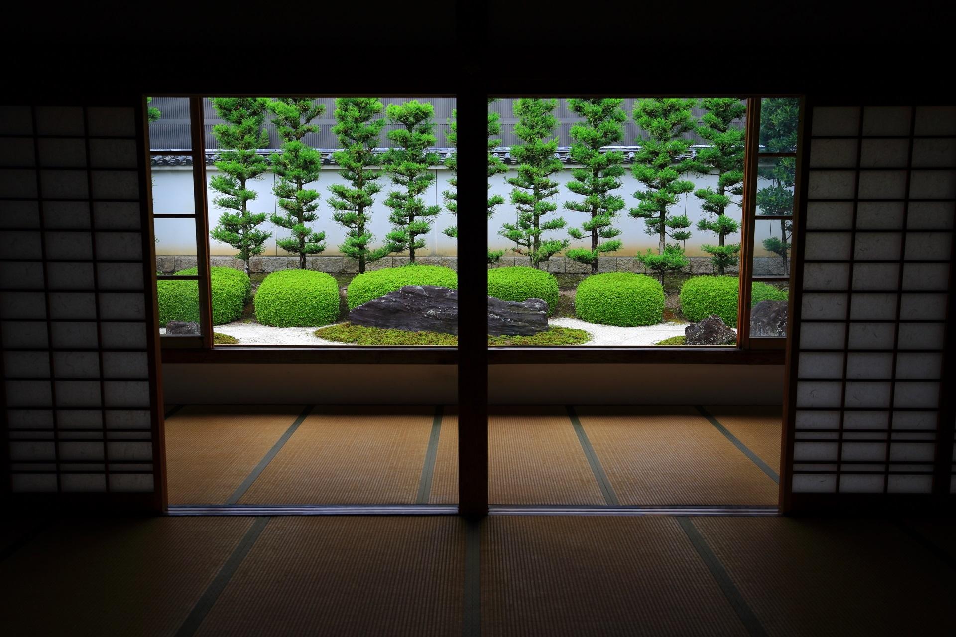 素晴らしい妙蓮寺の庭園