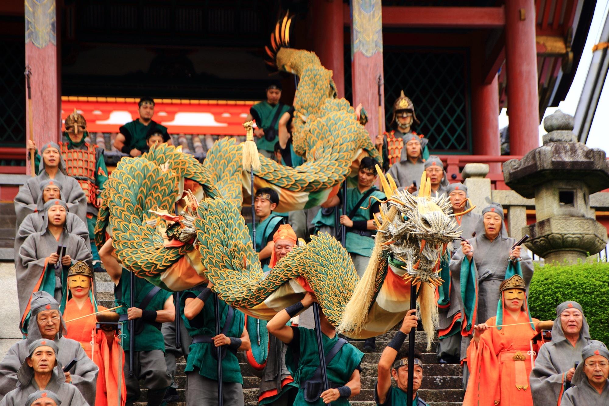 清水寺 青龍会(せいりゅうかい) 京都の東を守る龍の舞