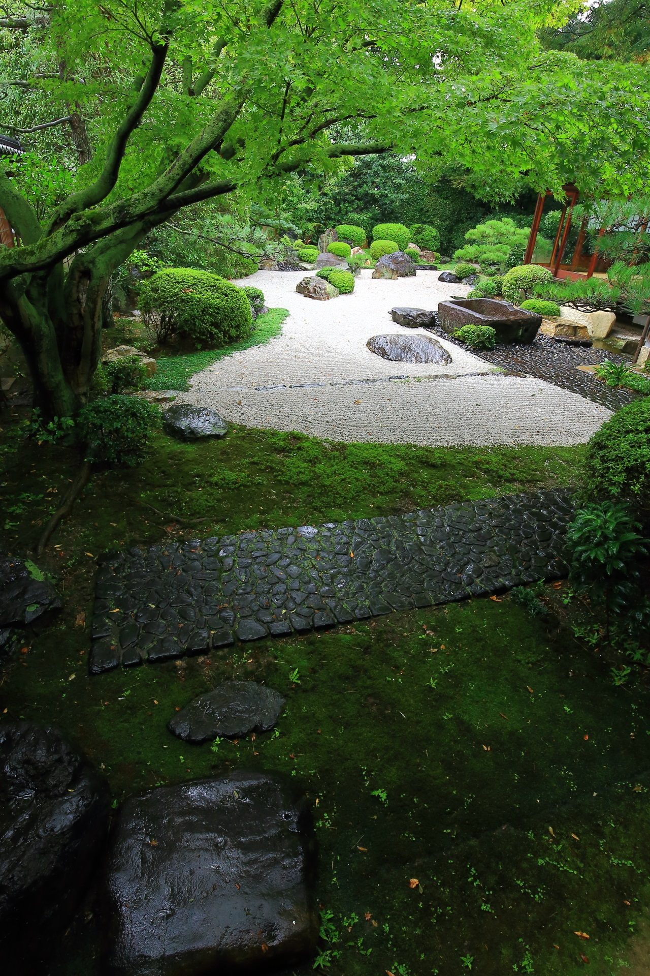 Beautiful garden of Gokonomiya-Shrine in Kyoto