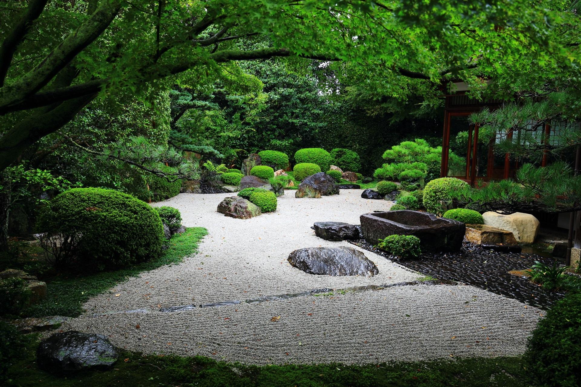 御香宮神社 庭園 高画質 写真