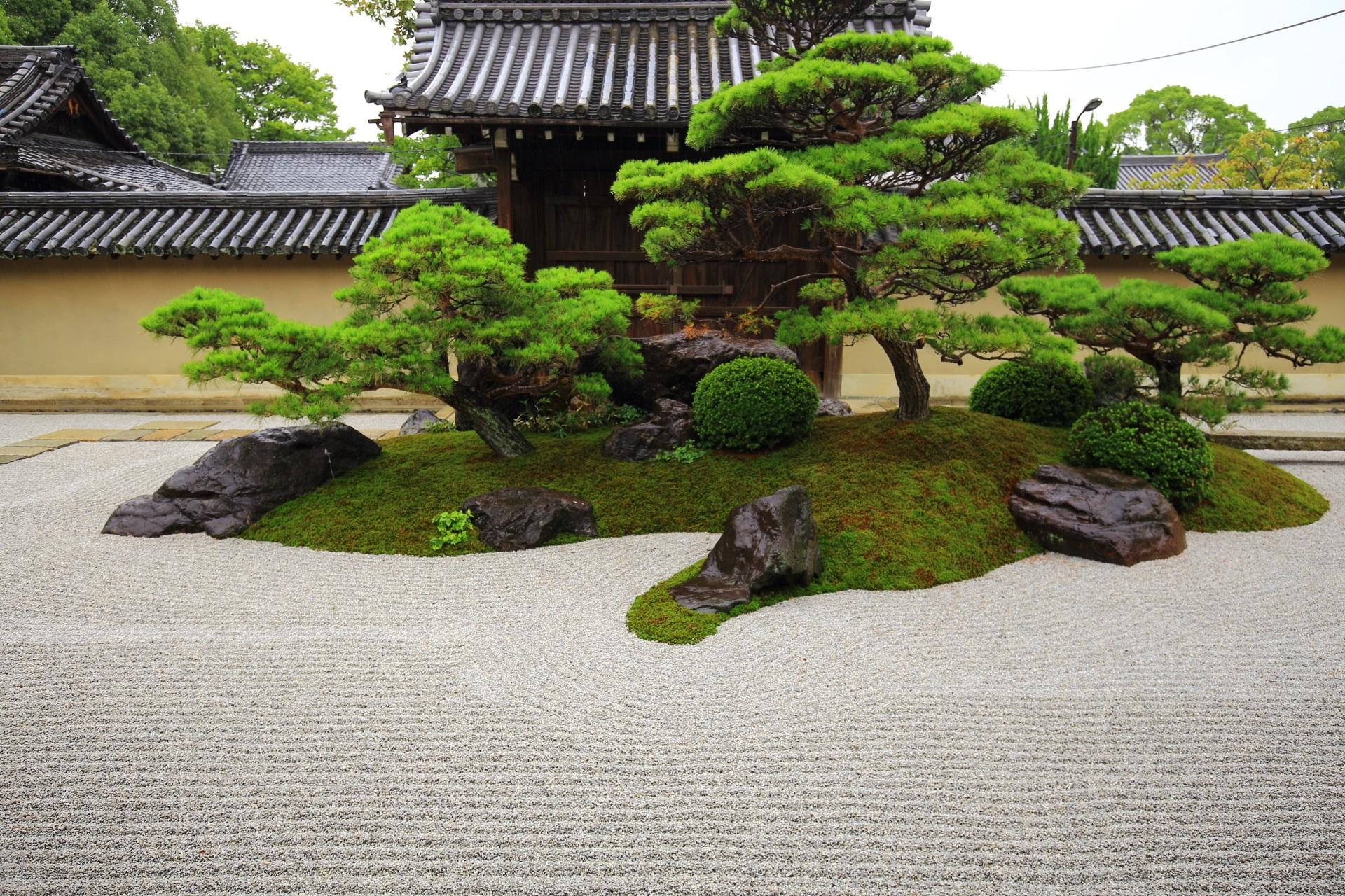 高画質 写真 観智院 庭園