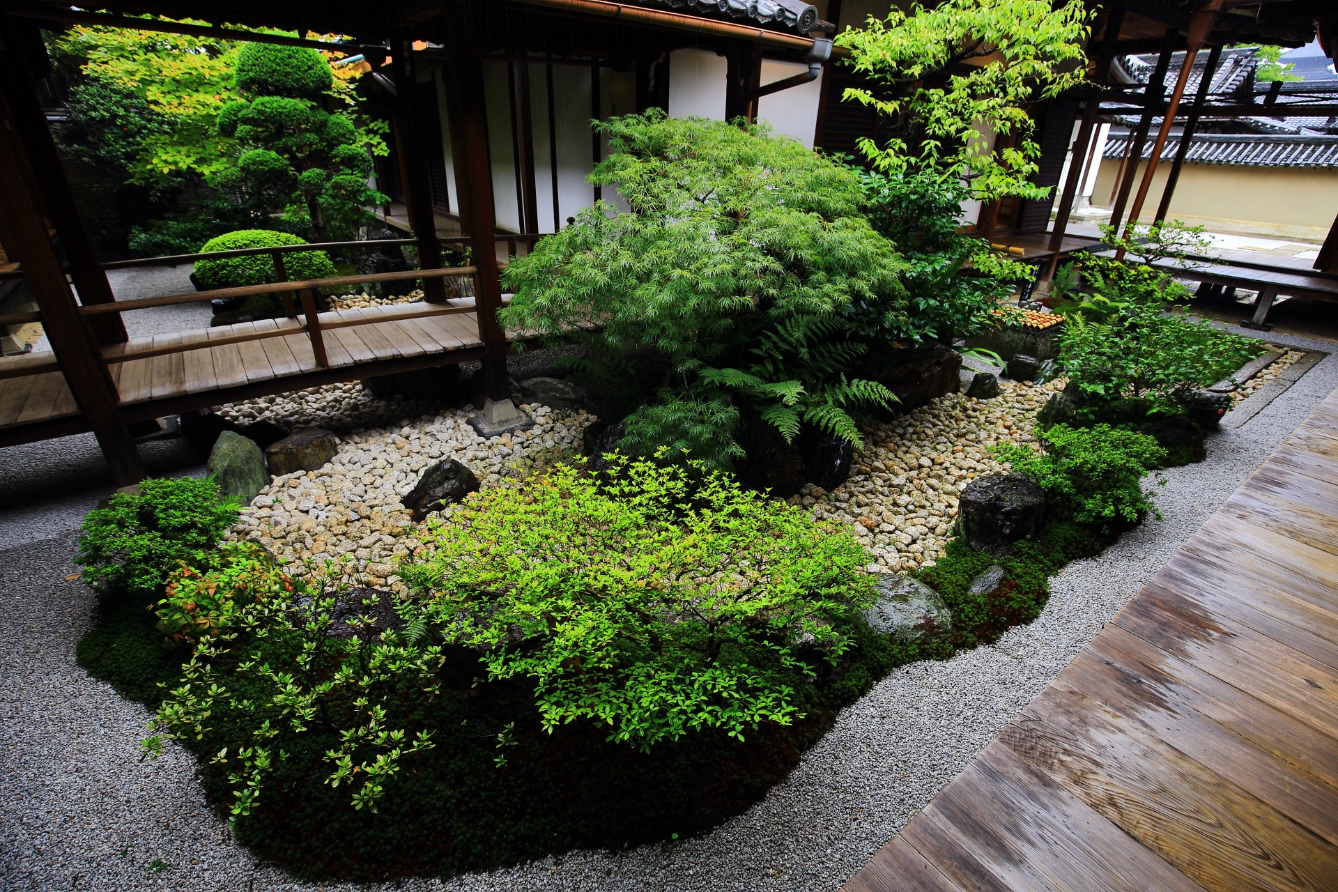 観智院 庭園 多様な枯山水と風情ある露地庭
