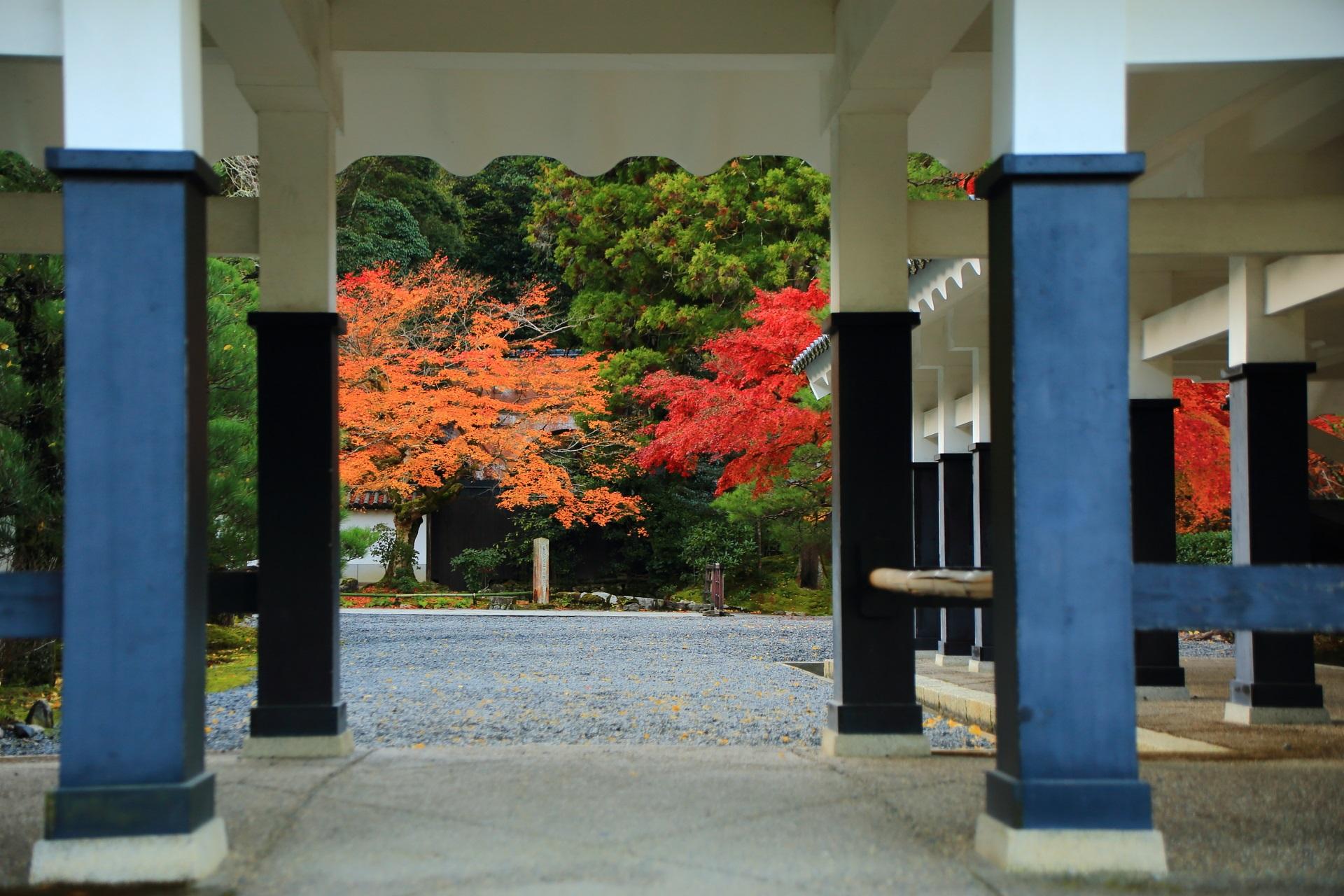 南禅寺の独特の回廊と紅葉が作り出す絵になる秋の風景