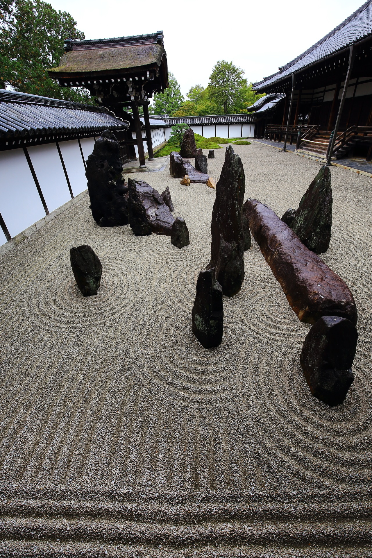 Rock and stone garden in Tofukuji-Temple in Kyoto,Japan
