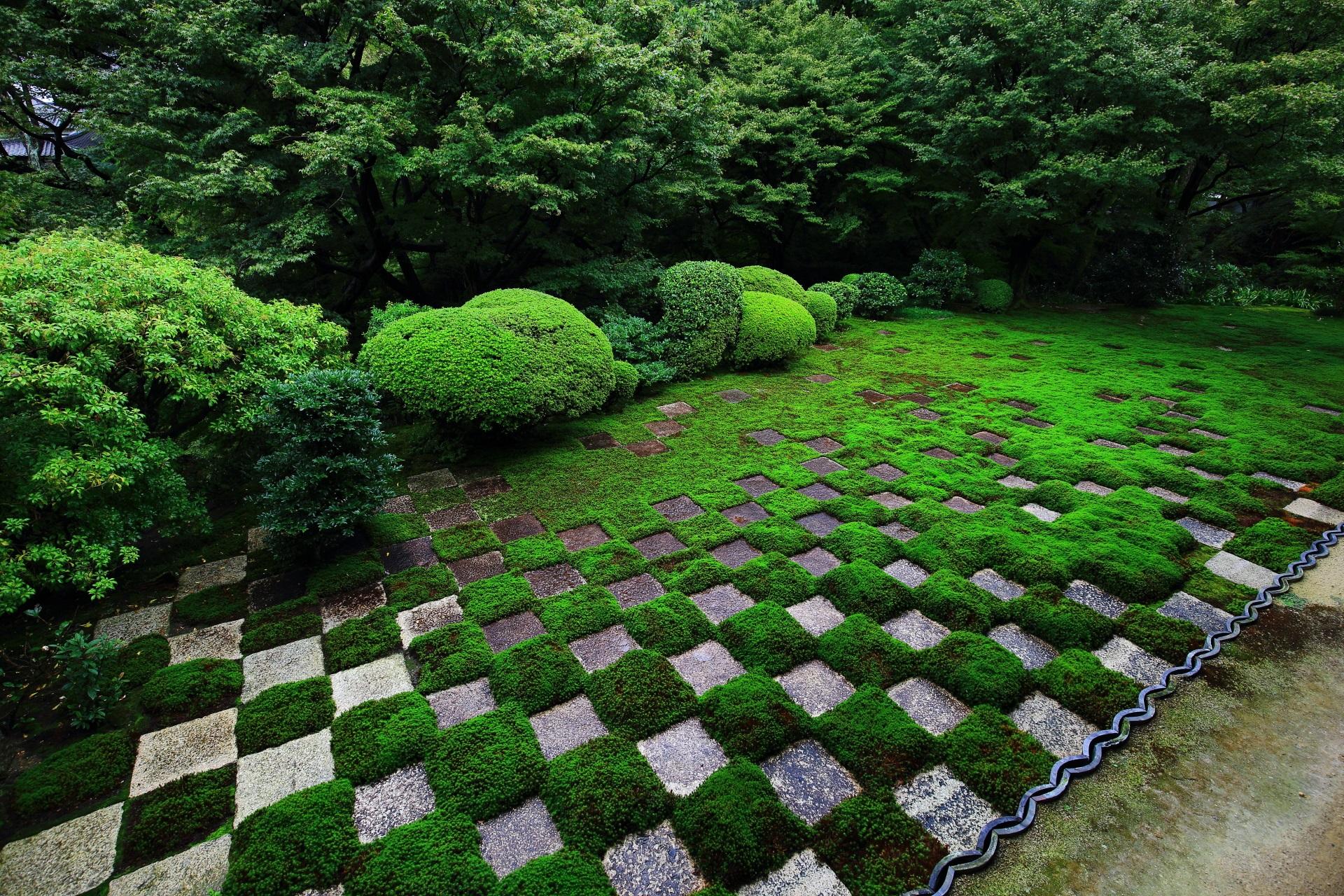 東福寺の方丈北庭