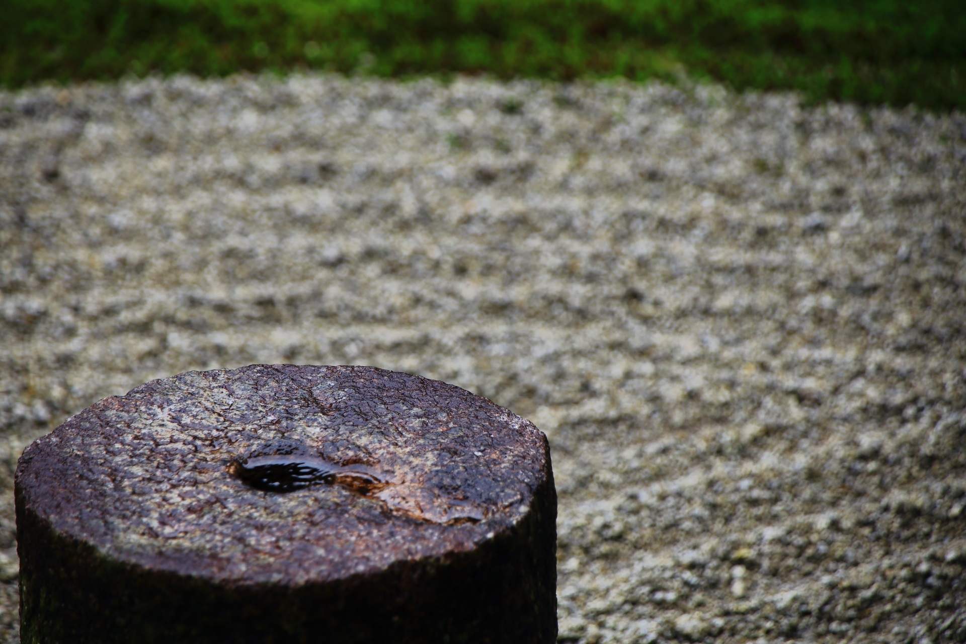 東福寺の東庭園の石柱