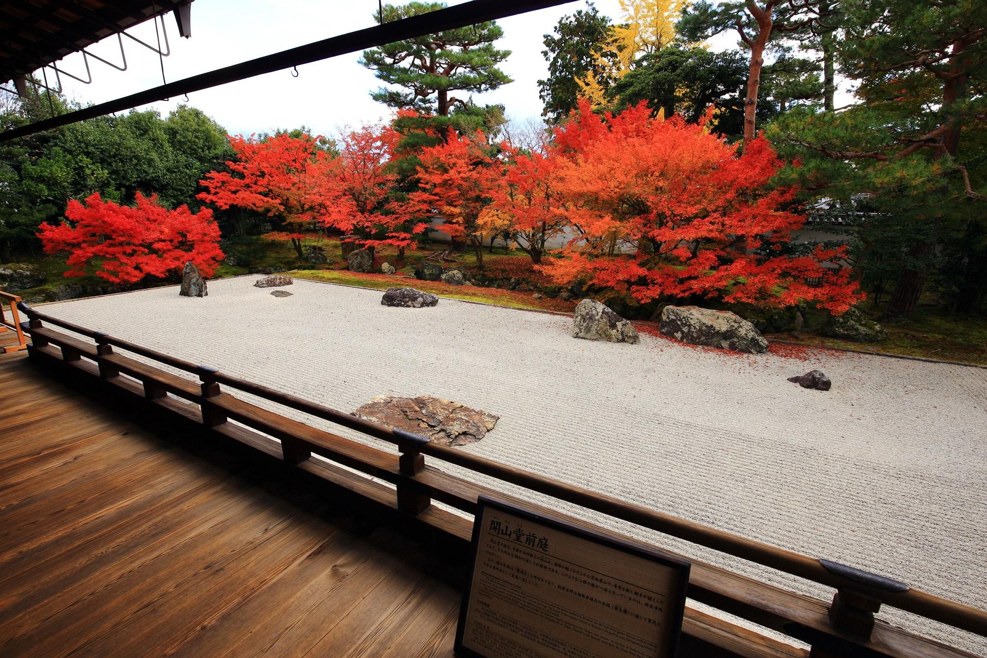 南向きのため雨や曇りが特にお勧めの開山堂庭園
