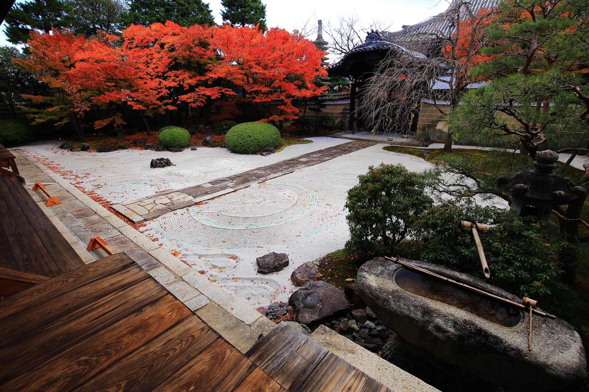 妙顕寺 紅葉 伽藍と庭園の絶品の隠れた紅葉の名所
