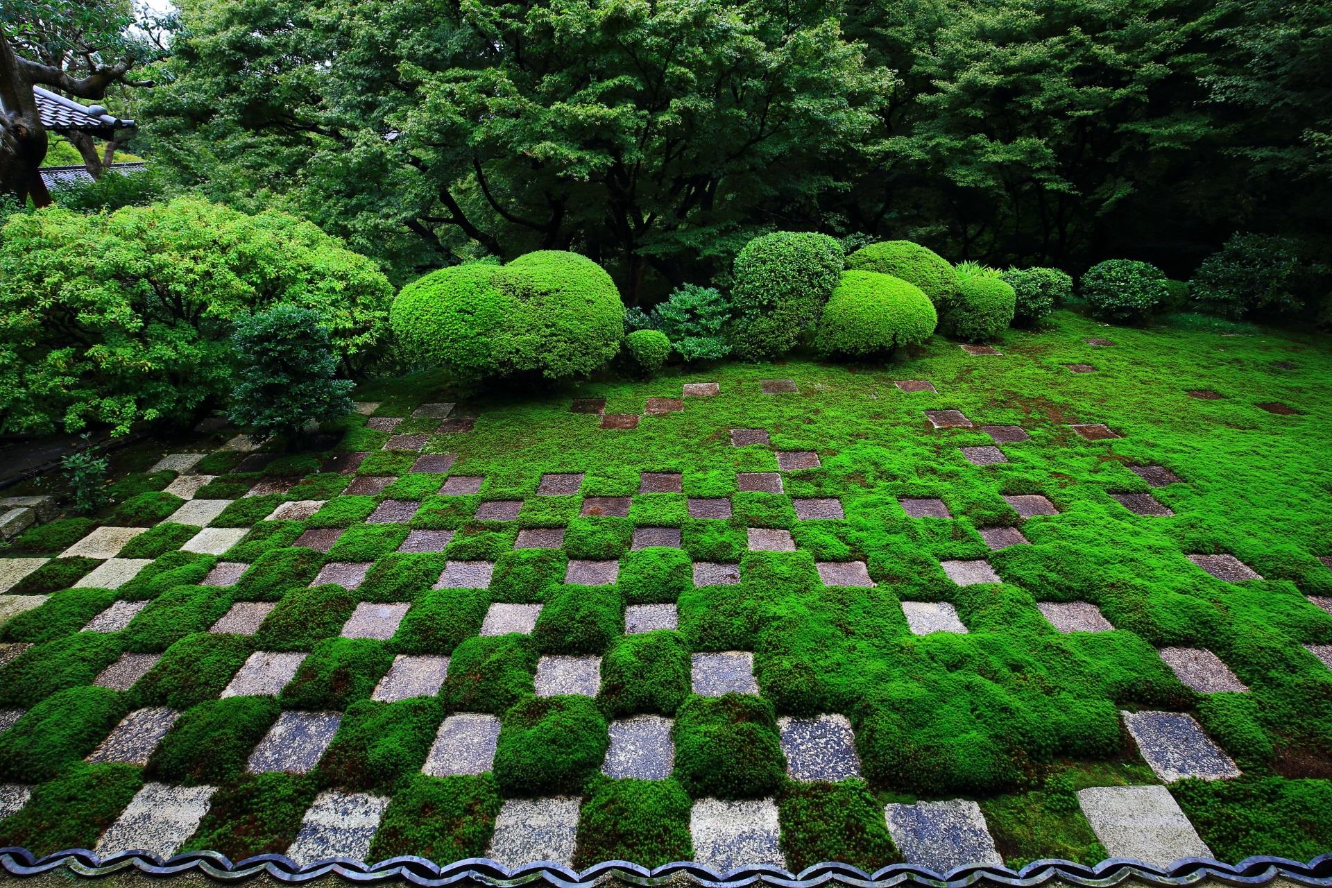 東福寺 庭園 方丈を巡る斬新な八相の庭