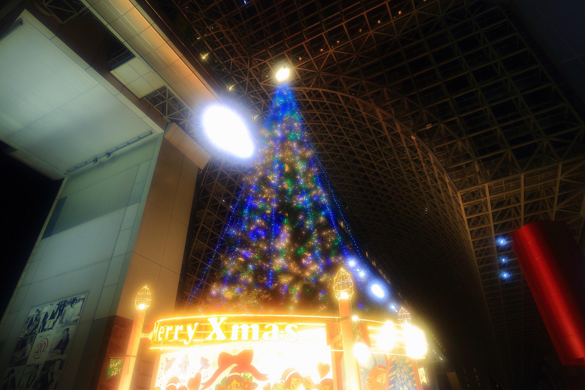ふわふわした幻想的なクリスマスツリー
