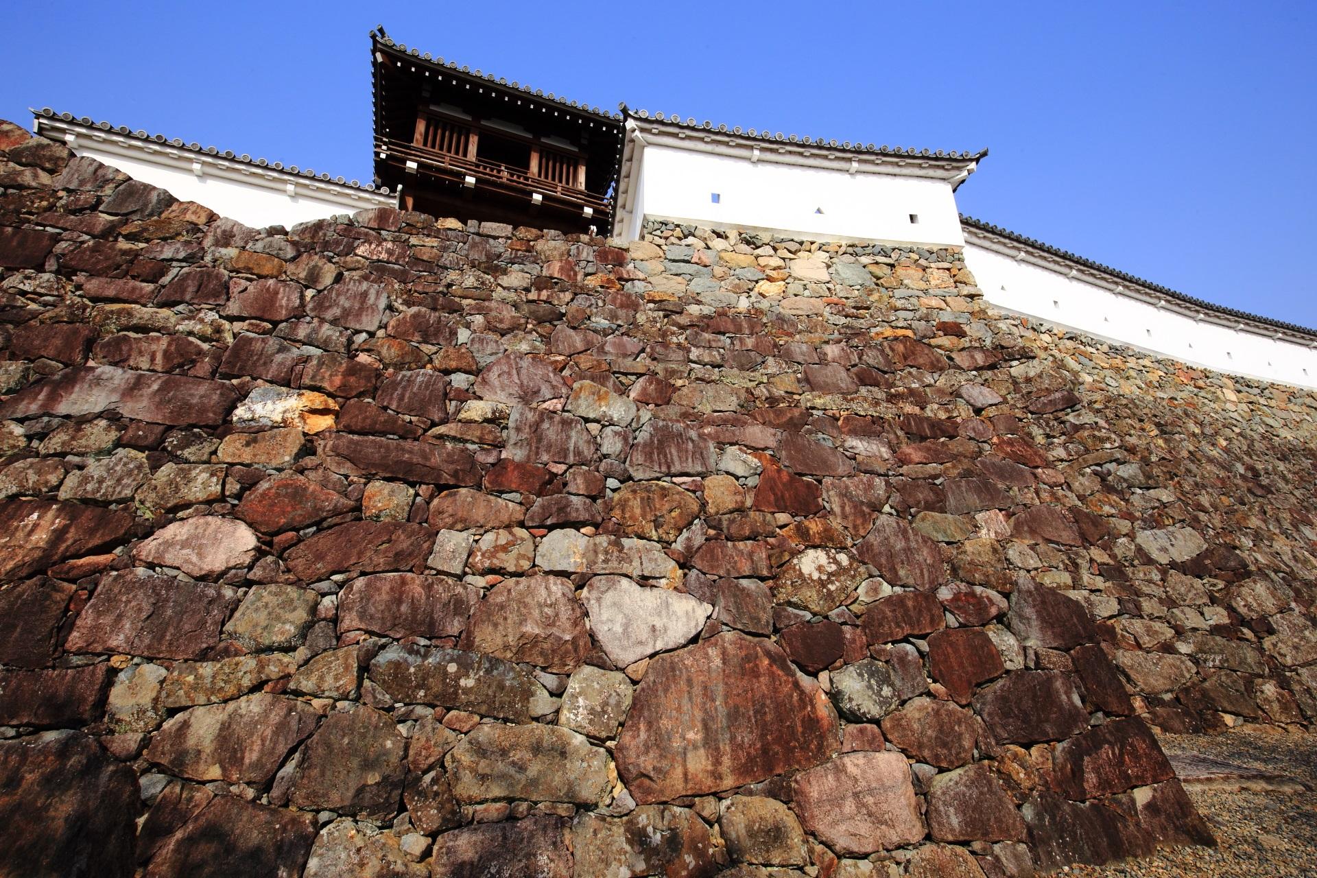 福知山城の本丸の石垣