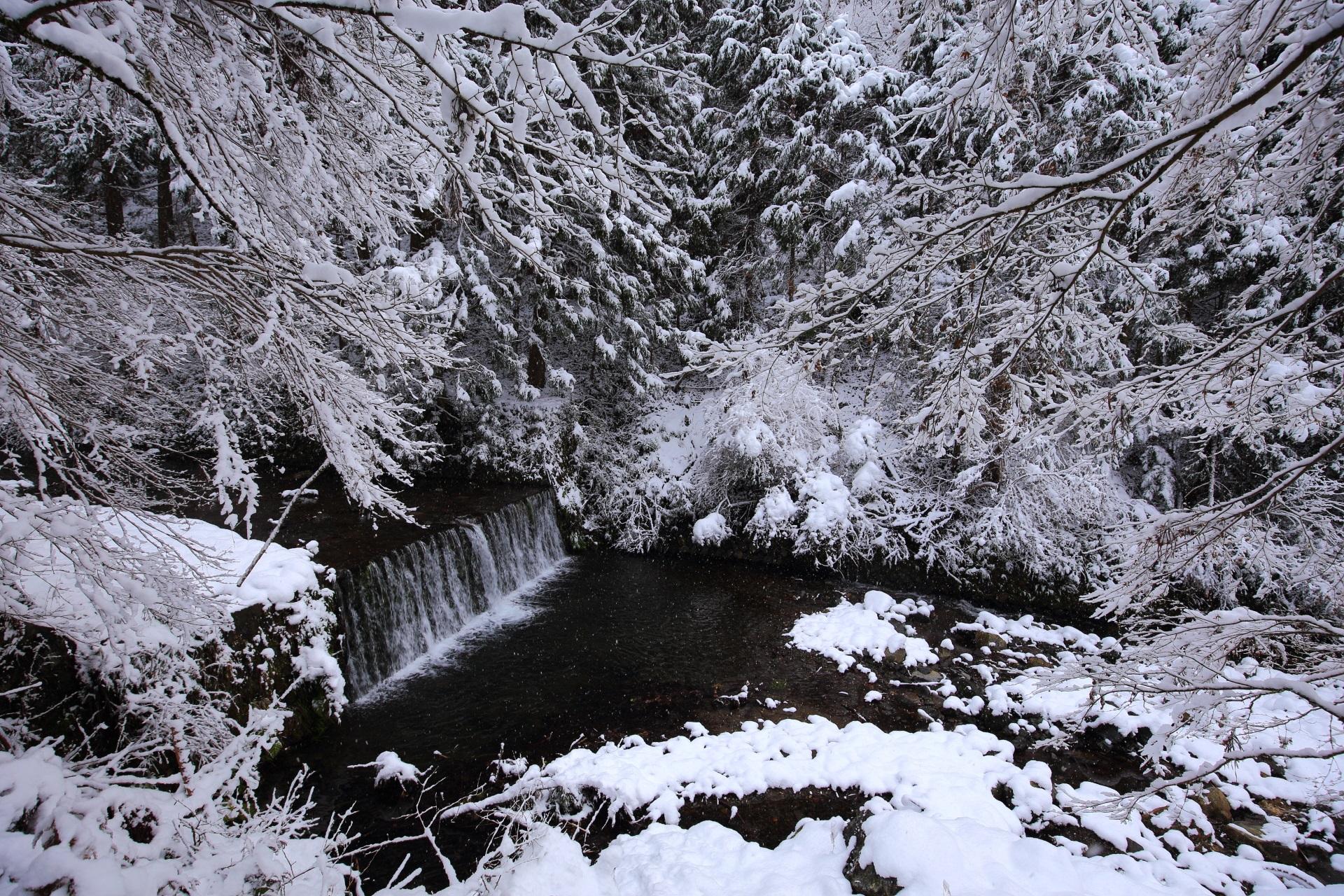 貴船川の雪景色