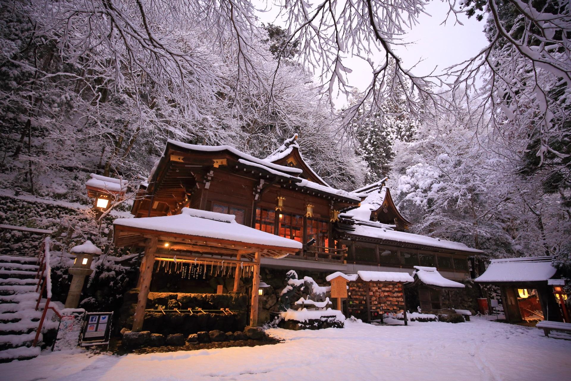 貴船神社 本宮 雪
