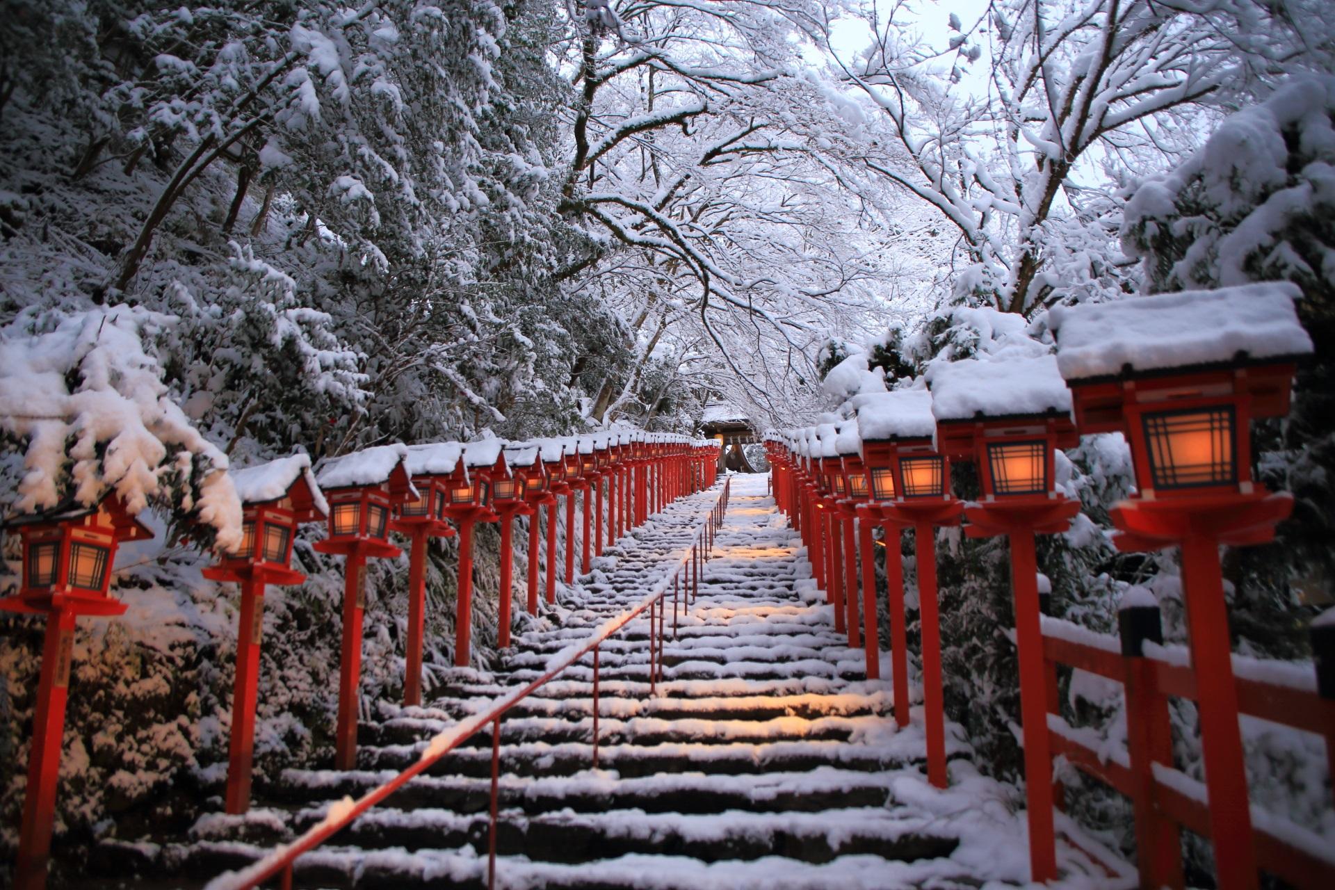 貴船神社 雪