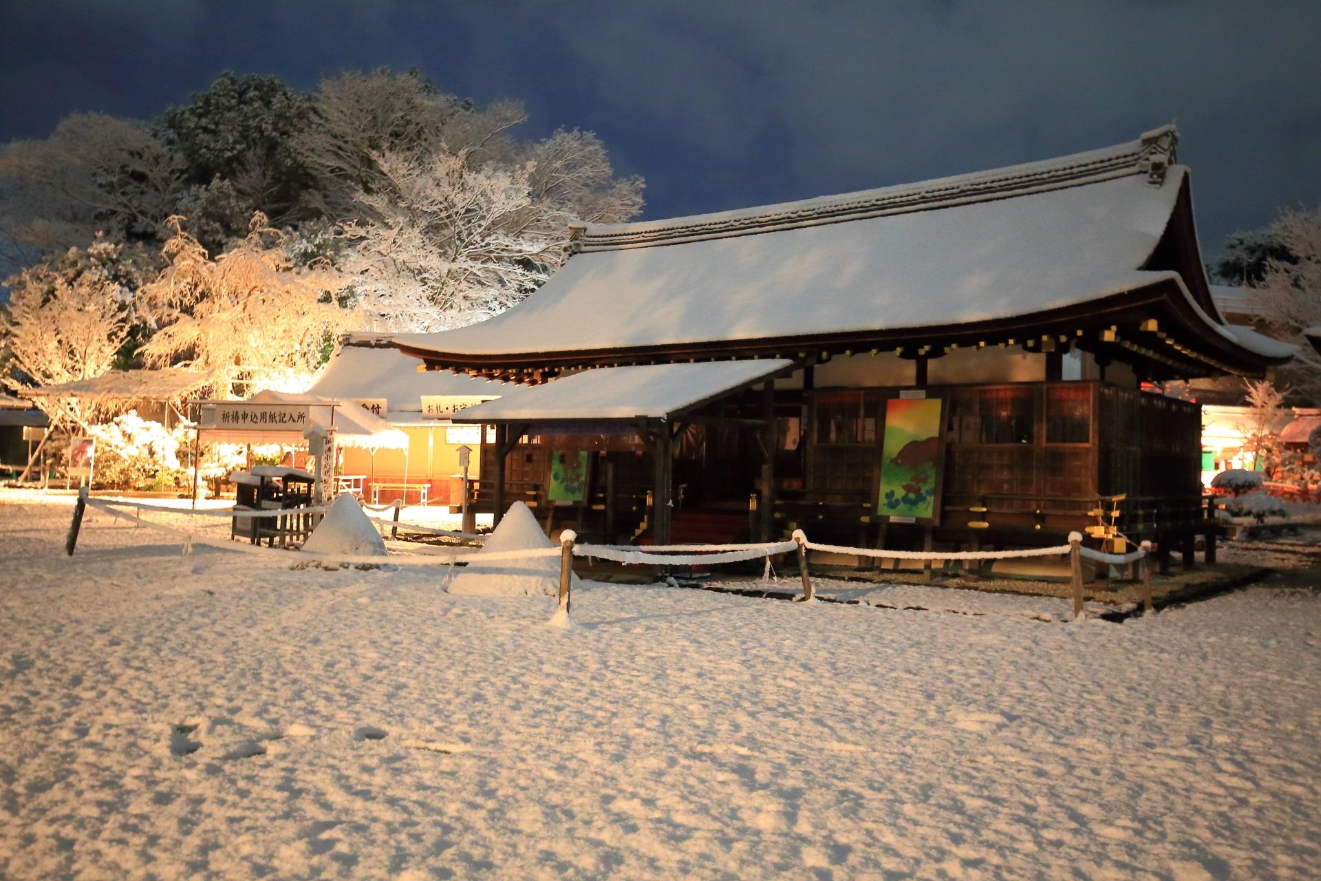 高画質 写真 上賀茂神社 雪