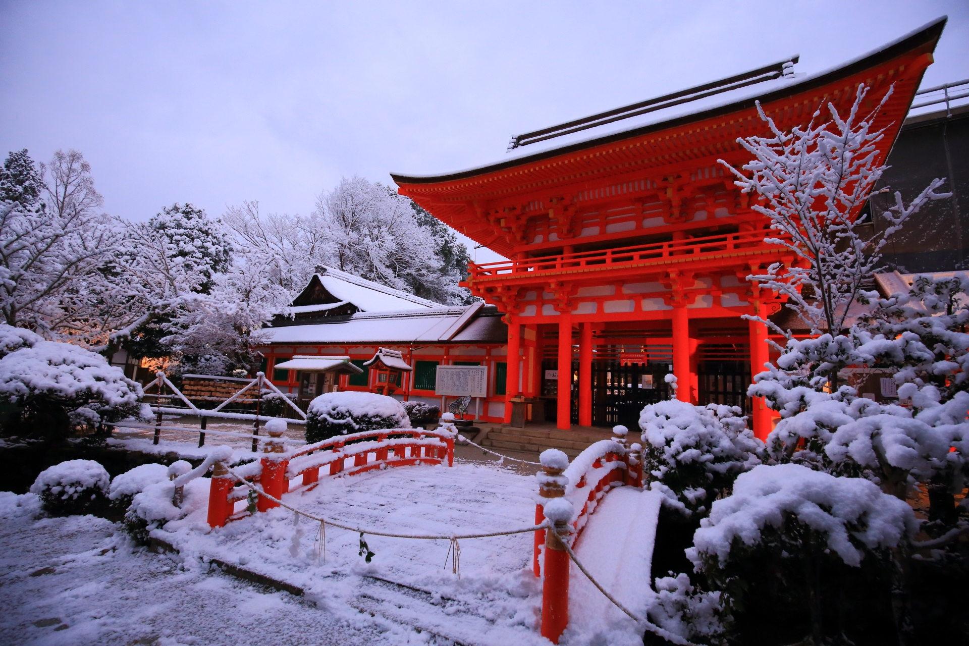 高画質 上賀茂神社 雪 画像
