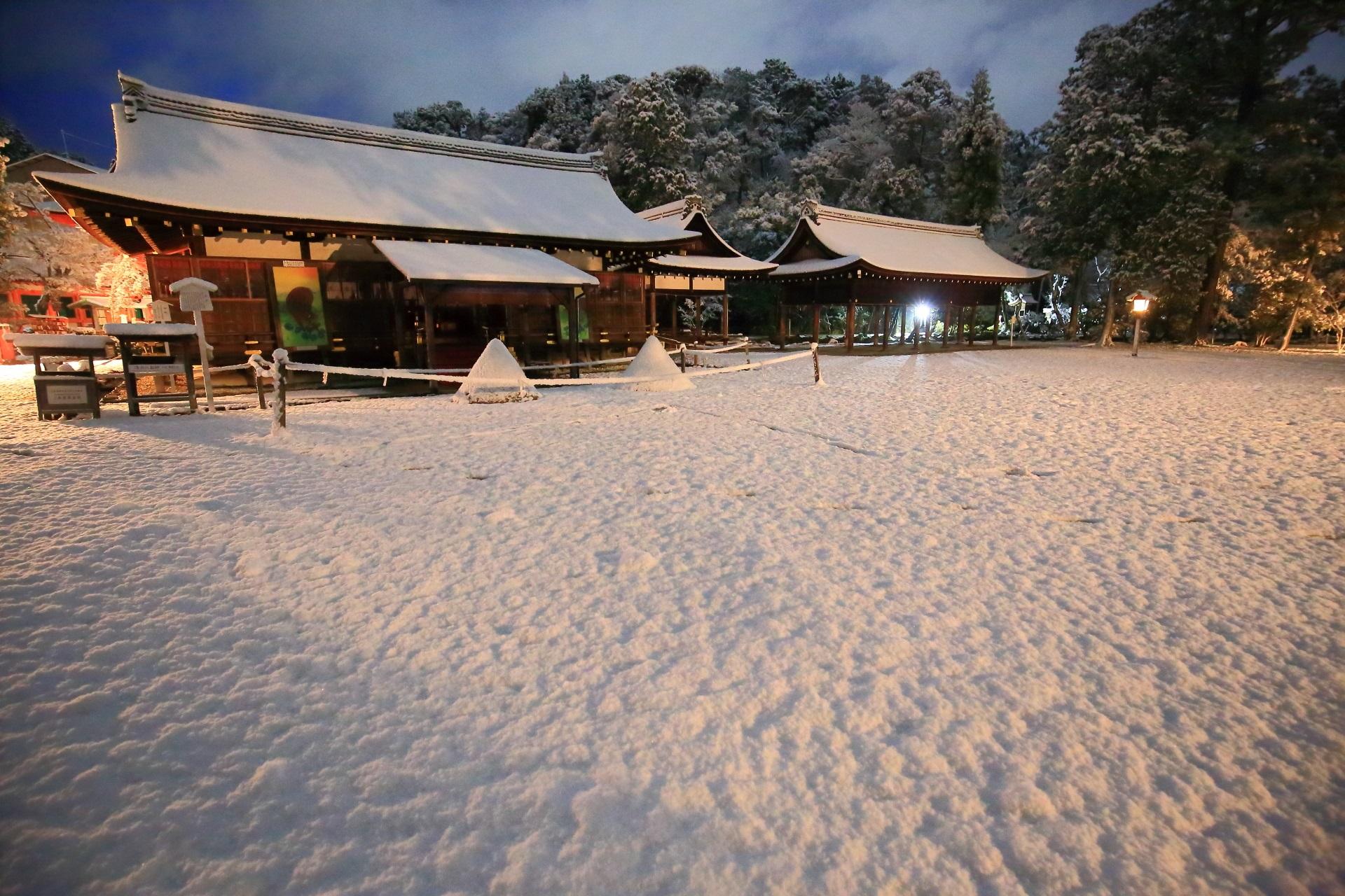 上賀茂神社 雪景色