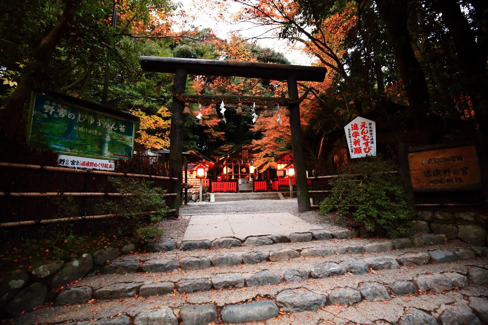 淡い彩りにつつまれる縁結びの神社