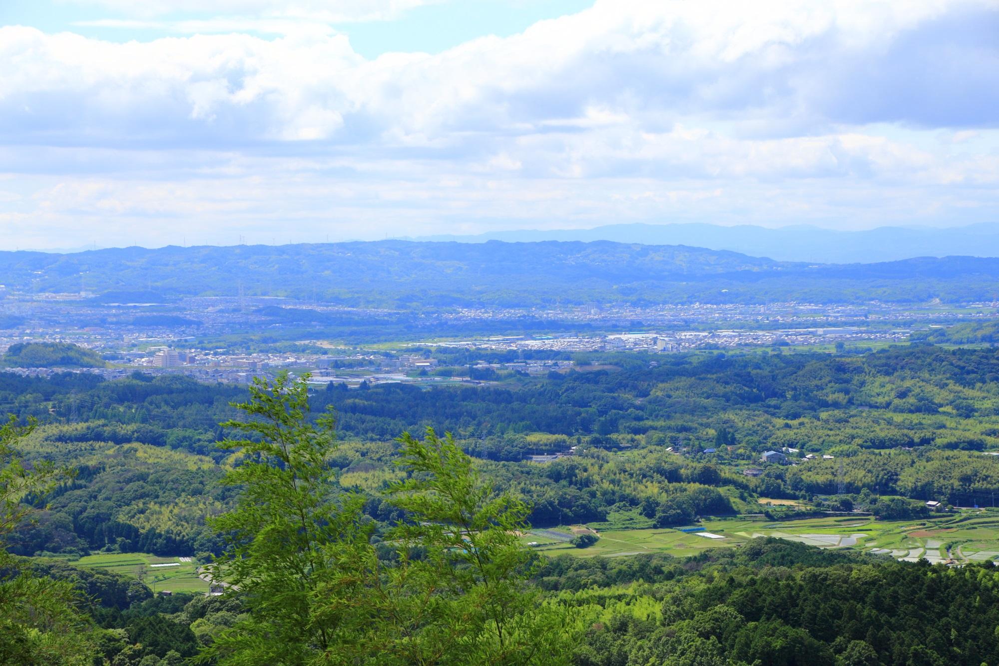 岩船寺から一望できる京都の山城地域や木津川市